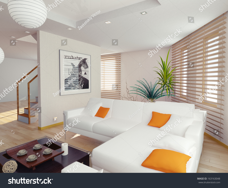 Modern Living Room Interior Contemporary Concept Stock
