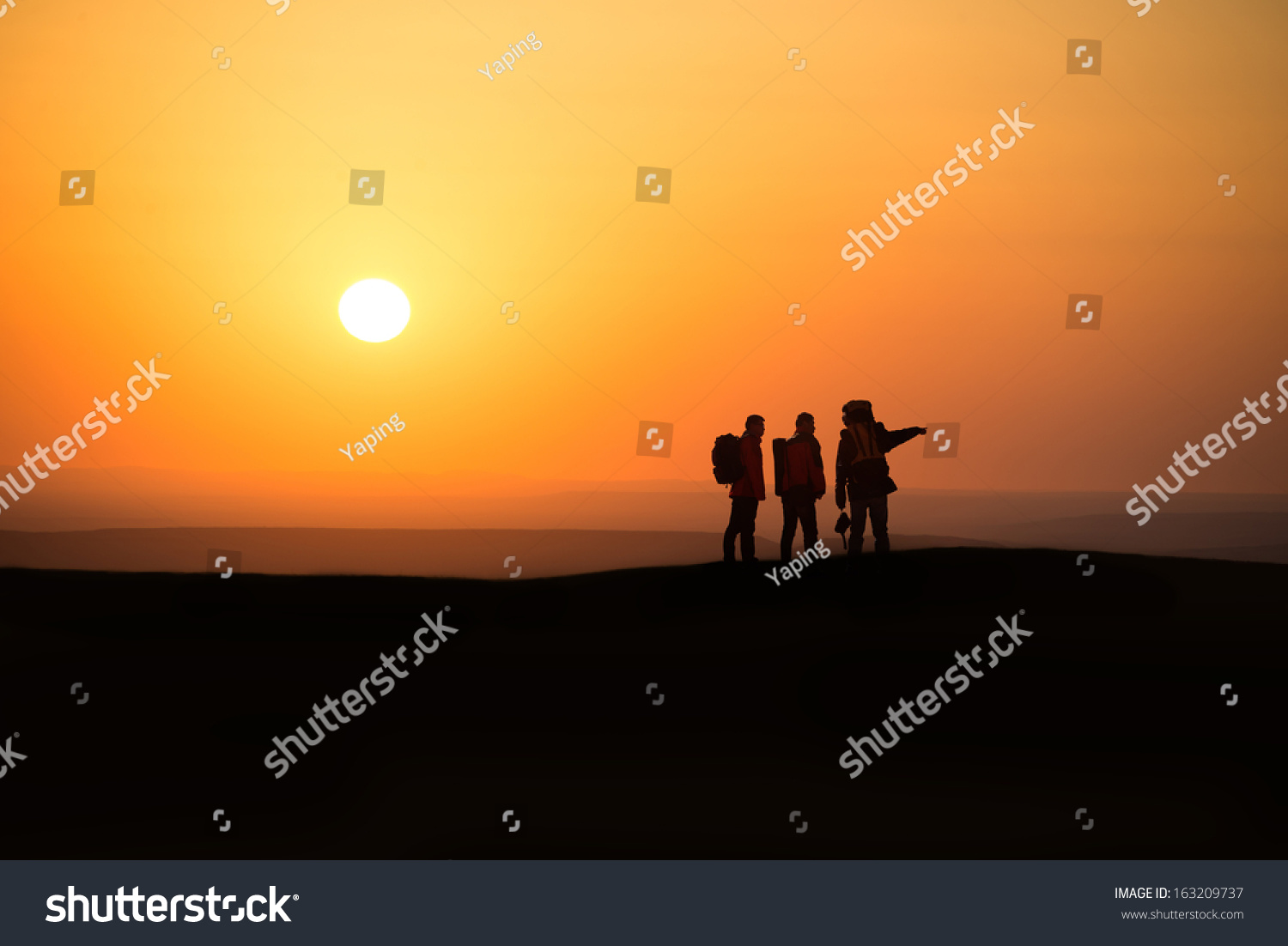 Trekking In Mountains Greet The Morning Sun Ez Canvas