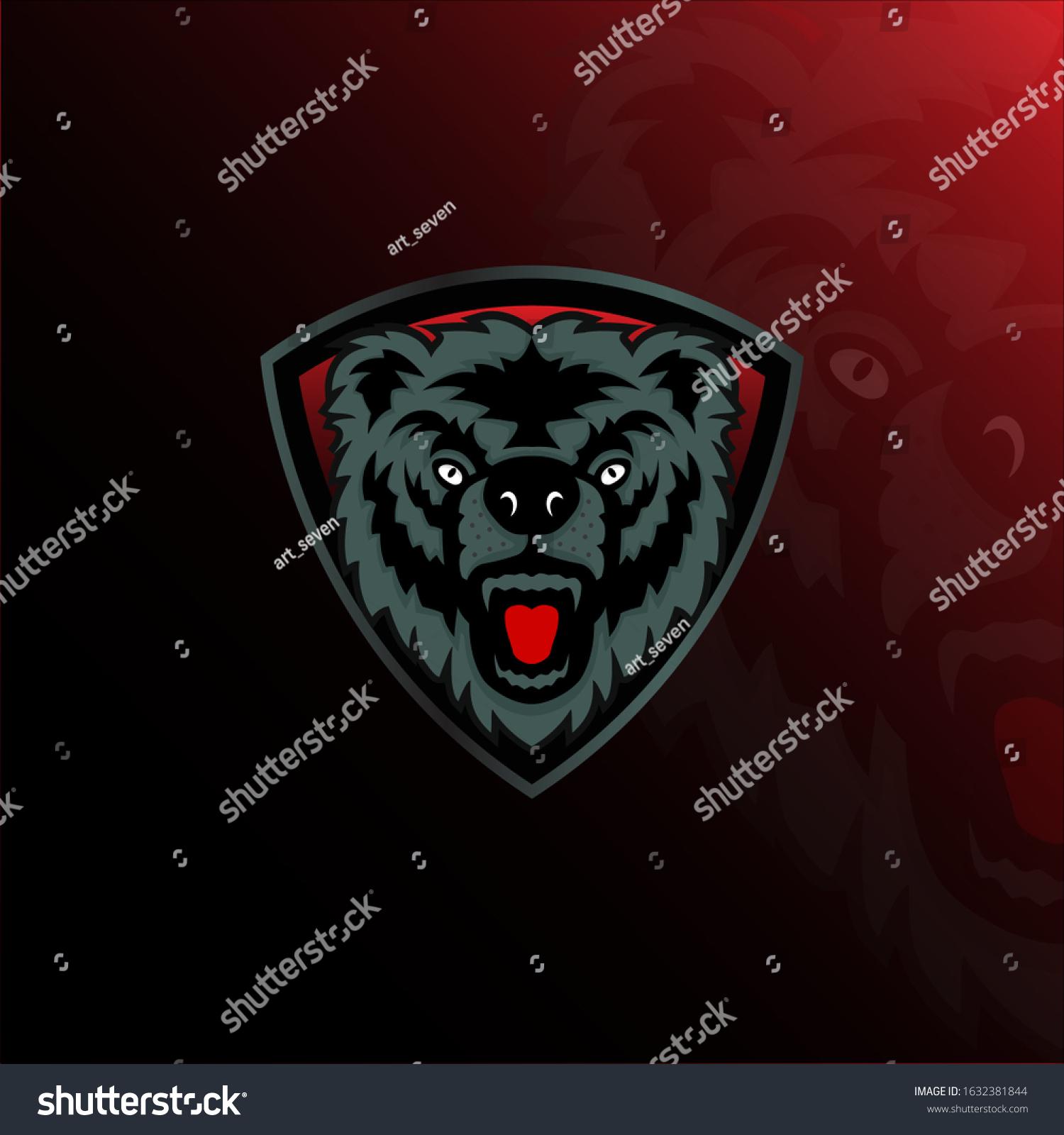 esport logo wolf vector dark background stock vector royalty free 1632381844 https www shutterstock com image vector esport logo wolf vector dark background 1632381844