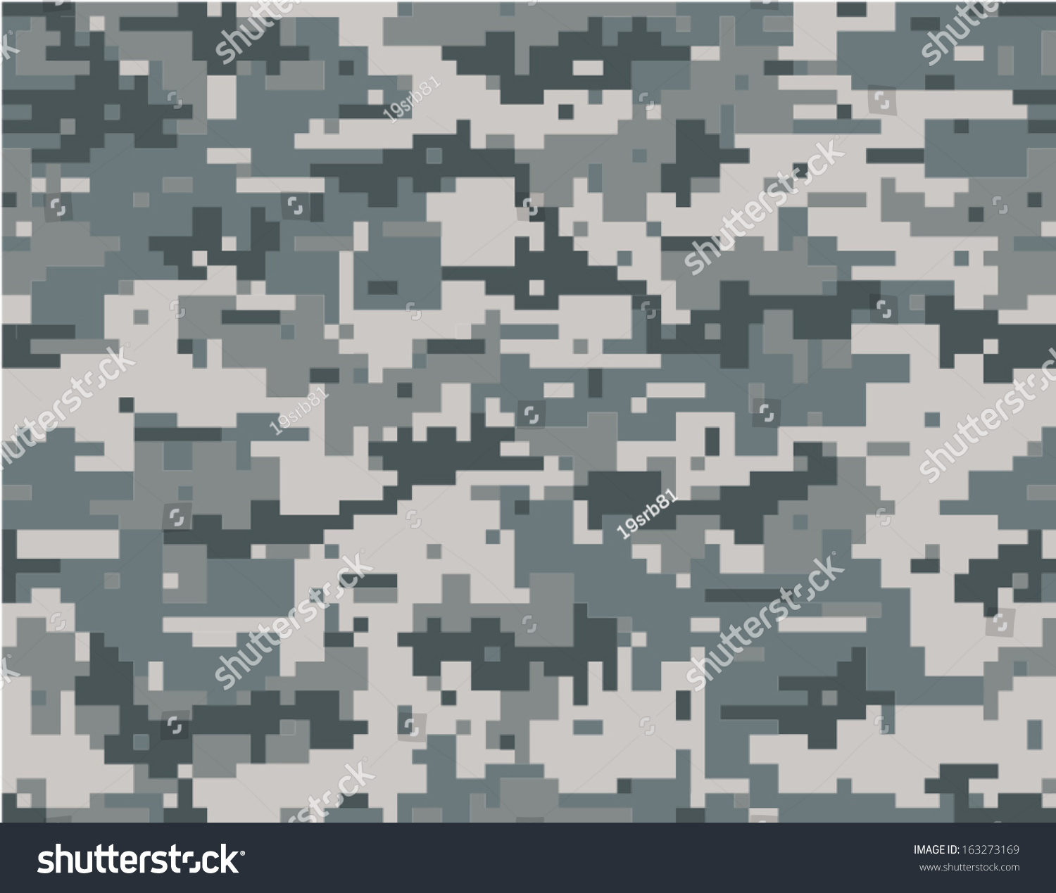 Digital Camouflage Seamless Pattern Stock Vector 163273169 ...