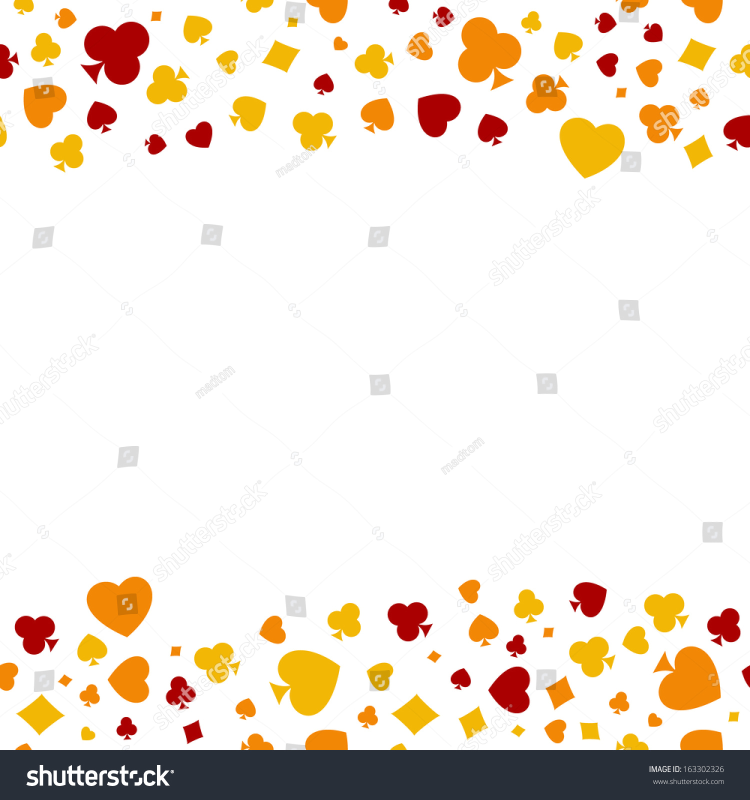 Seamless boarder made out casino symbols stock vector 163302326 the seamless boarder made out of casino symbols heart diamond spade and clubs biocorpaavc Gallery