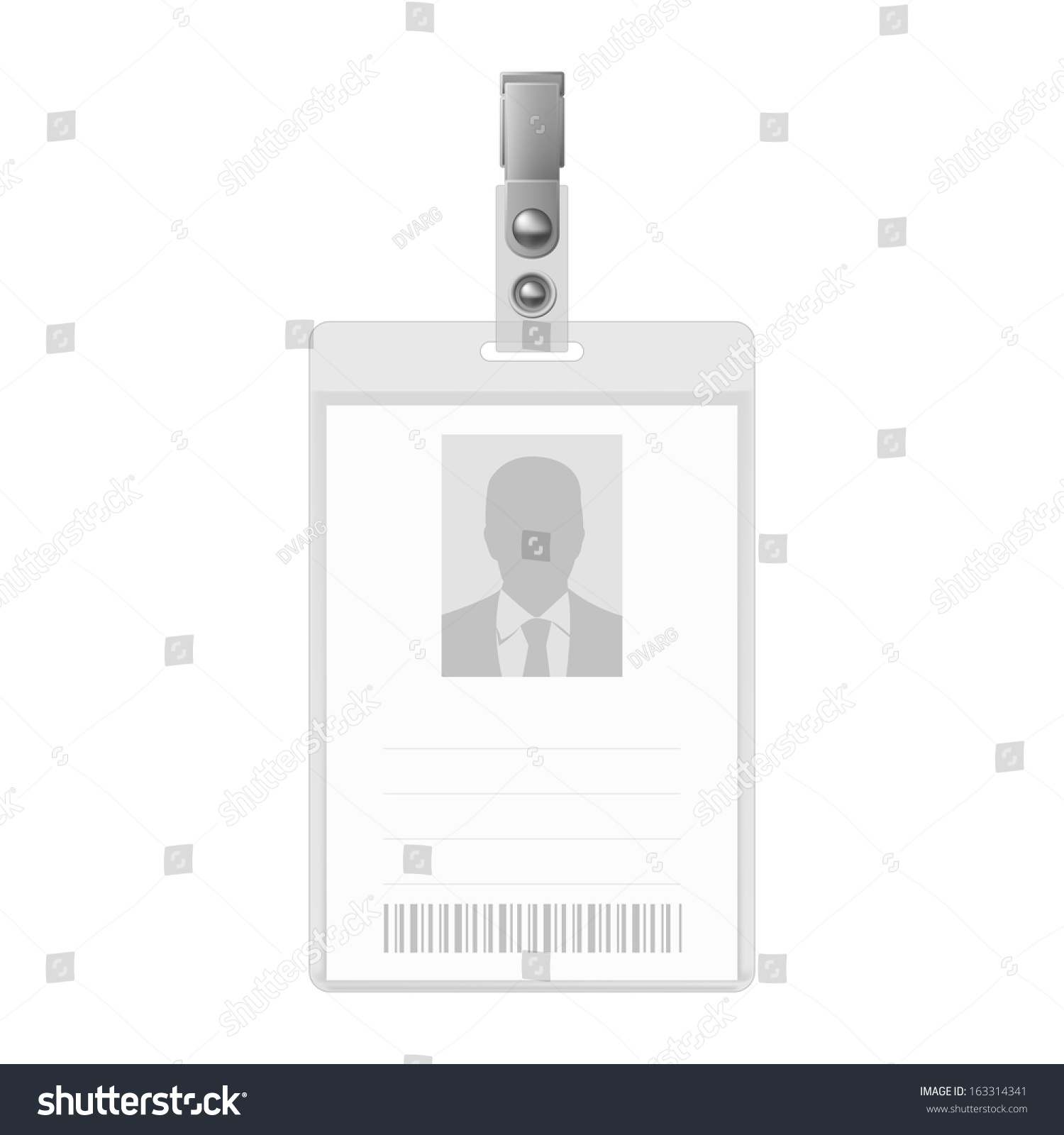 Blank Vertical Badge On White Background Vector 163314341 – Blank Id Card Template