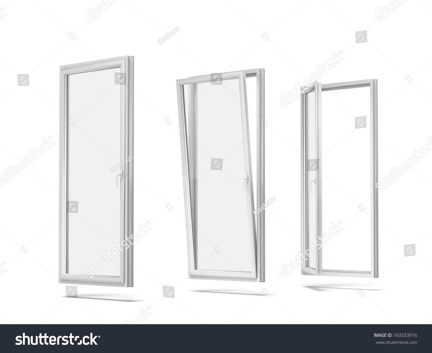 Plastic windows stock photo 163333916 shutterstock for Window plastic