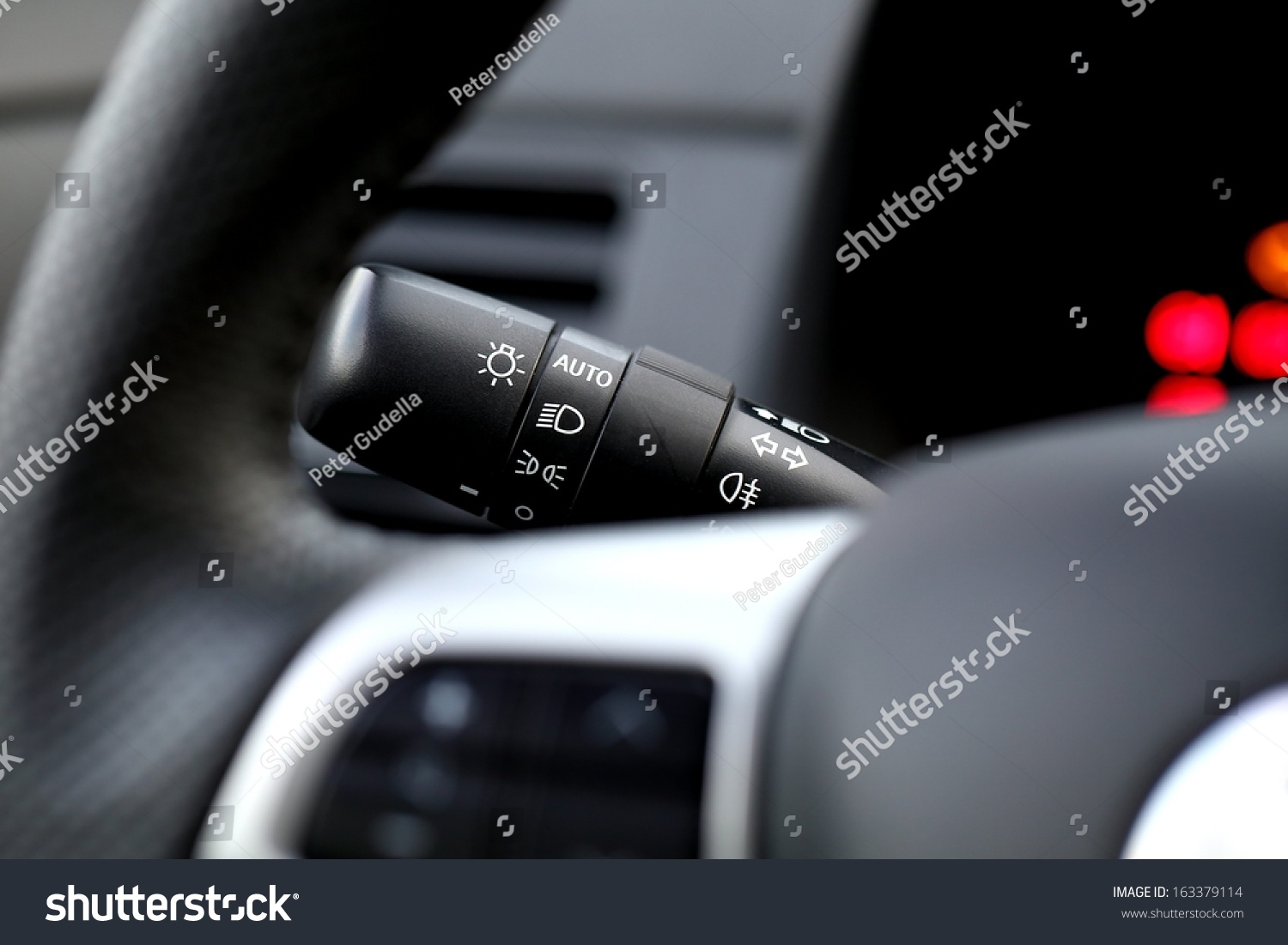 car interior light switch stock photo 163379114 shutterstock. Black Bedroom Furniture Sets. Home Design Ideas