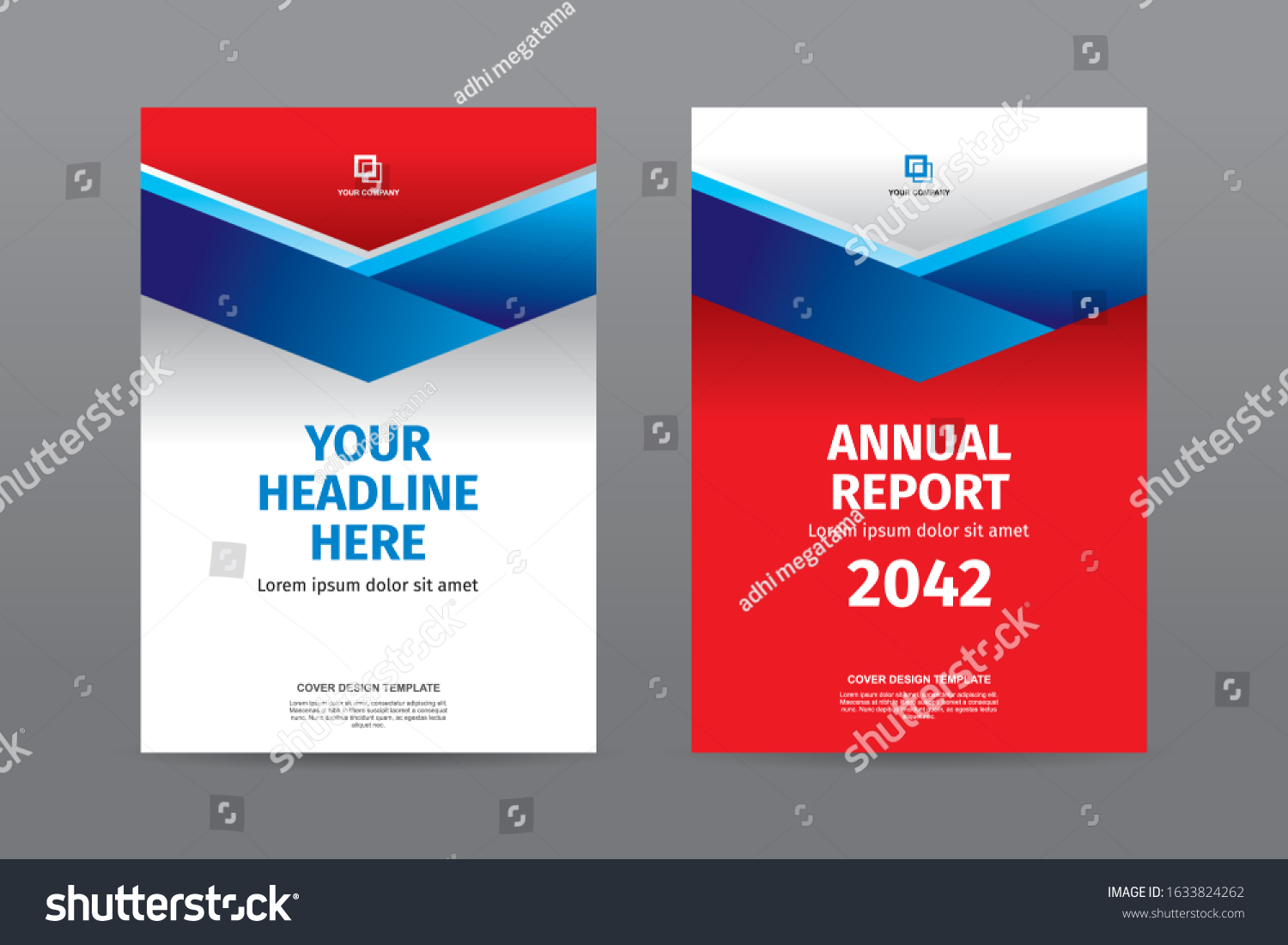 Modern Blue Ribbon Red White Color Stock Vector (Royalty Free Regarding Mobile Book Report Template