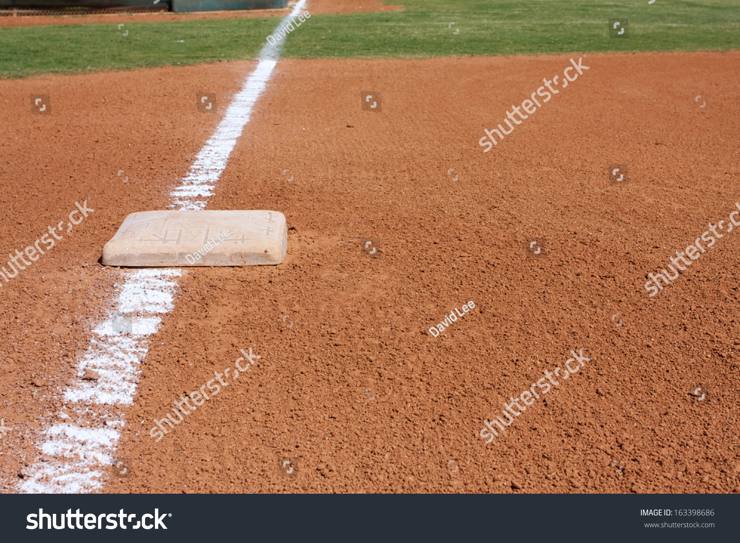 Baseball Third Base With The Field Beyond And Room For Copy