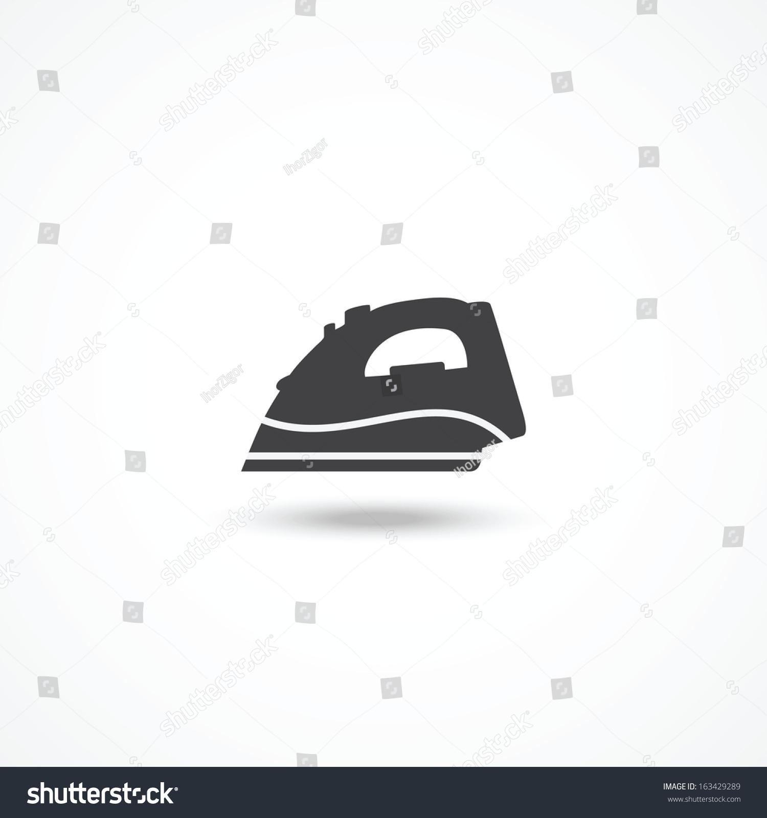 Steam Iron Icon ~ Steam iron icon stock vector illustration