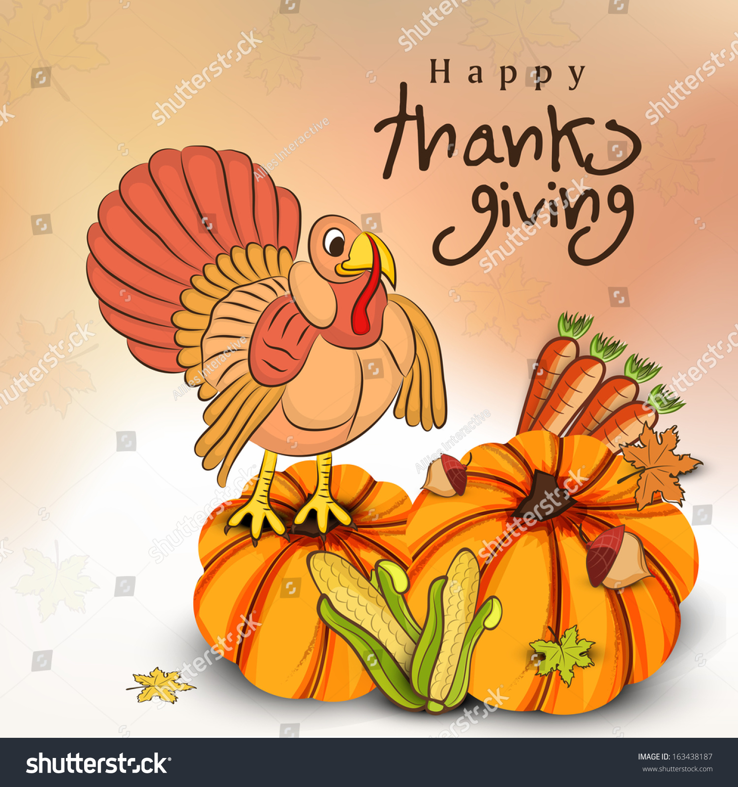 Happy Thanksgiving Day Celebration Flyer Poster Stock Vector ...