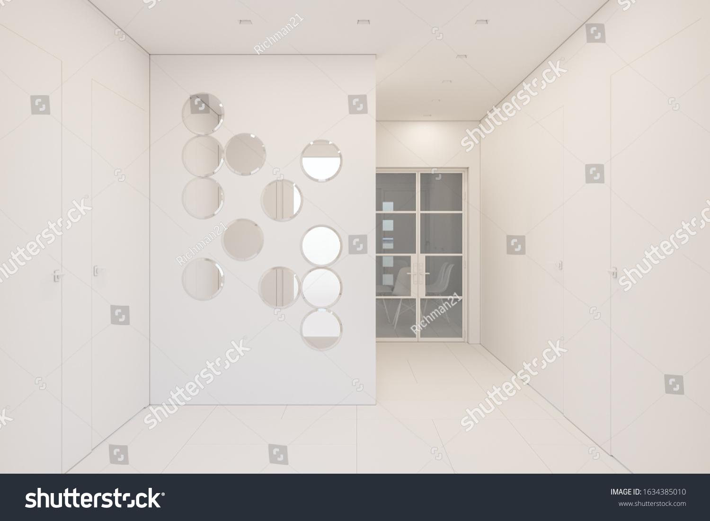 3d Render Interior Design Foyer Private Stock Illustration 1634385010,Cover Creative Graphic Design Background