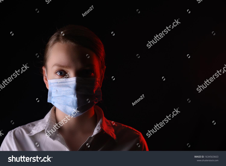mask black virus