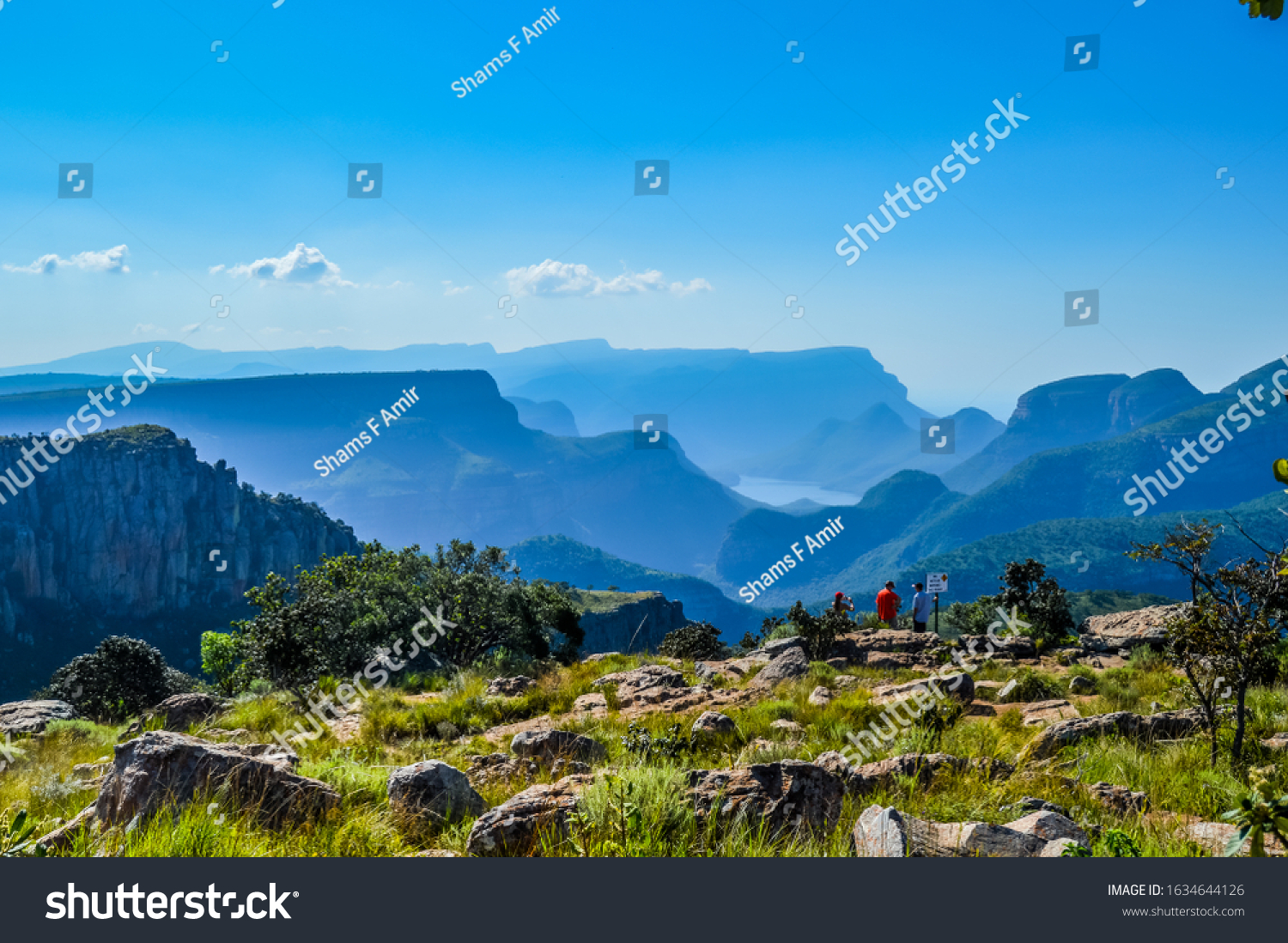 Beautiful Blyde river canyon near three rondavels in Sabie Graskop Mpumalanga