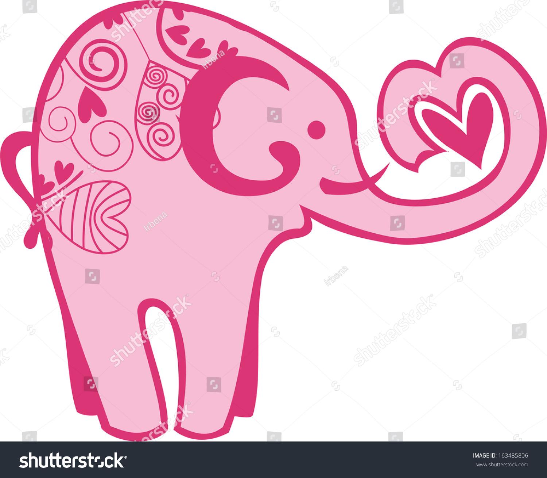 Elegant Cartoon Of An Elephant Valentine Elephant S Elephant - 80 ...