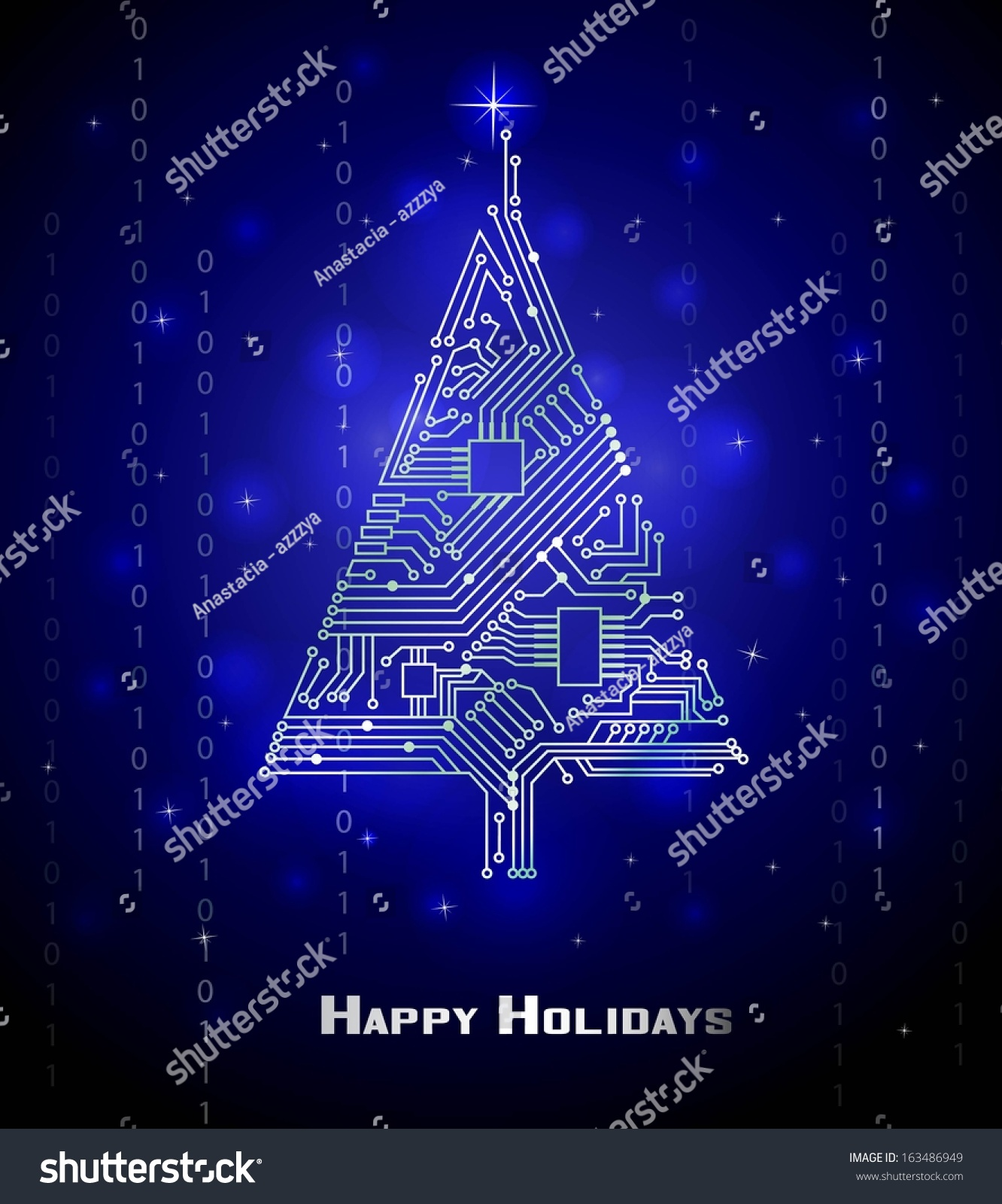 Hitech Christmas Tree Digital Electronic Circuit Stock Vector Diagram Also Schematic Diagrams On Hi Tech From A