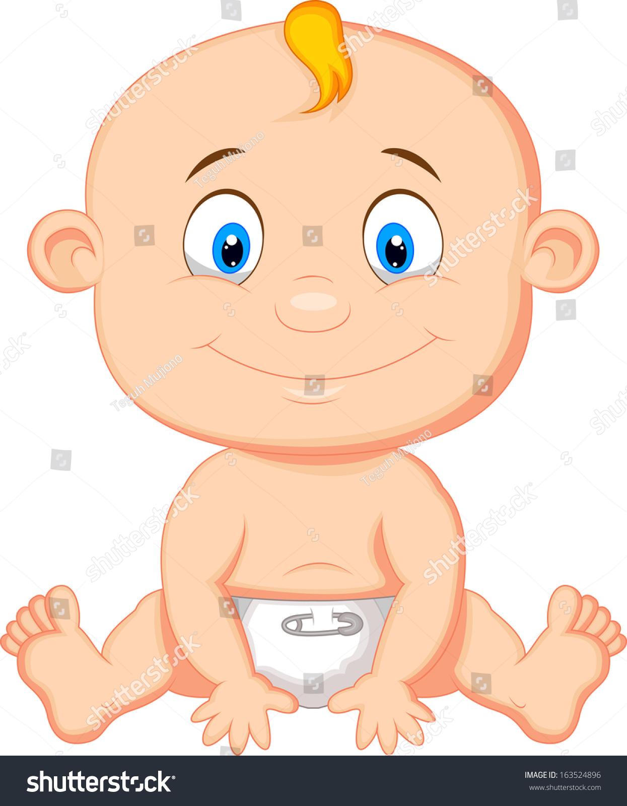 Baby Boy Cartoon Stock Vector 163524896 - Shutterstock