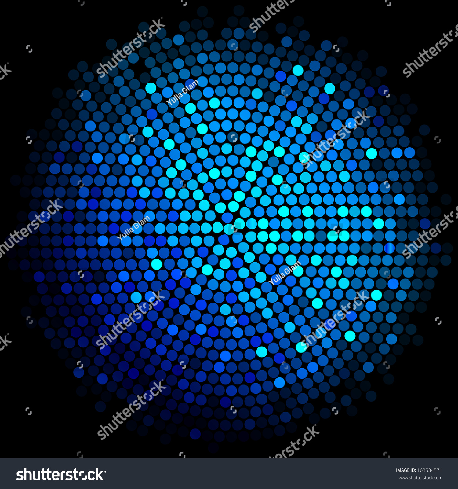 vector blue disco lights background stock vector 163534571