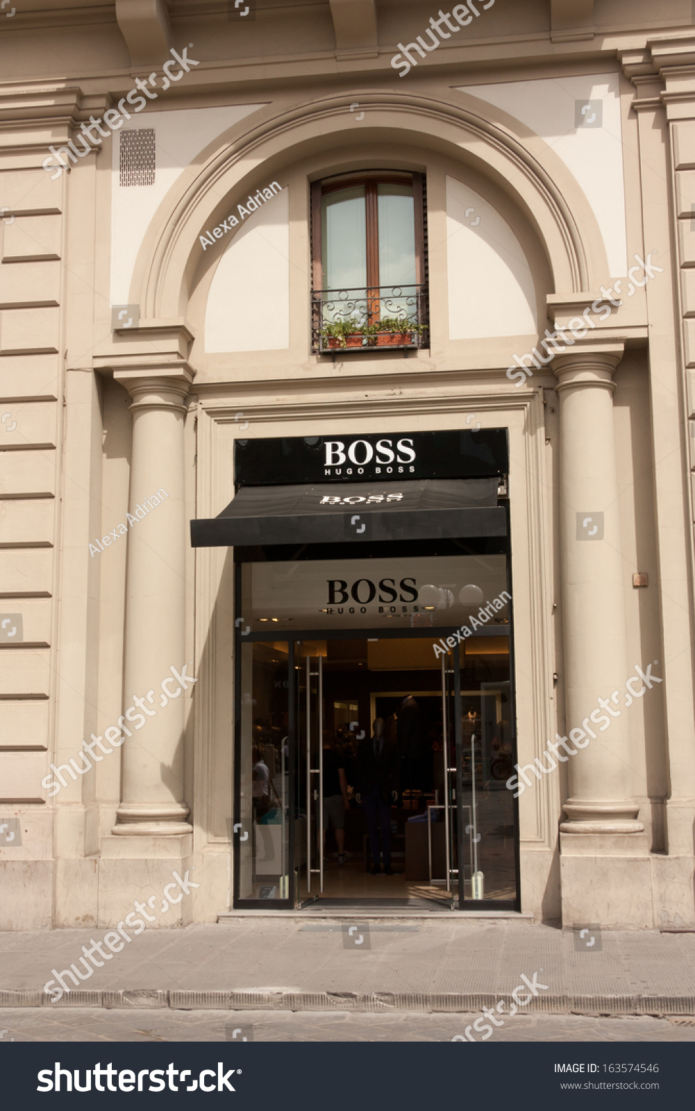 Florence Italy June 22 2013 Hugo Boss Boutique At Piazza Della Repubblica Hugo Boss Ag Is