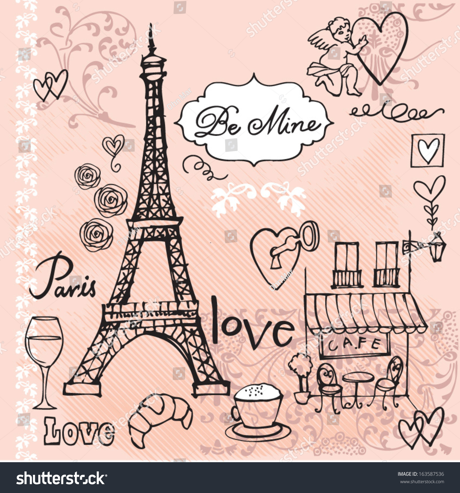 Love In Paris Background Stock Avopix