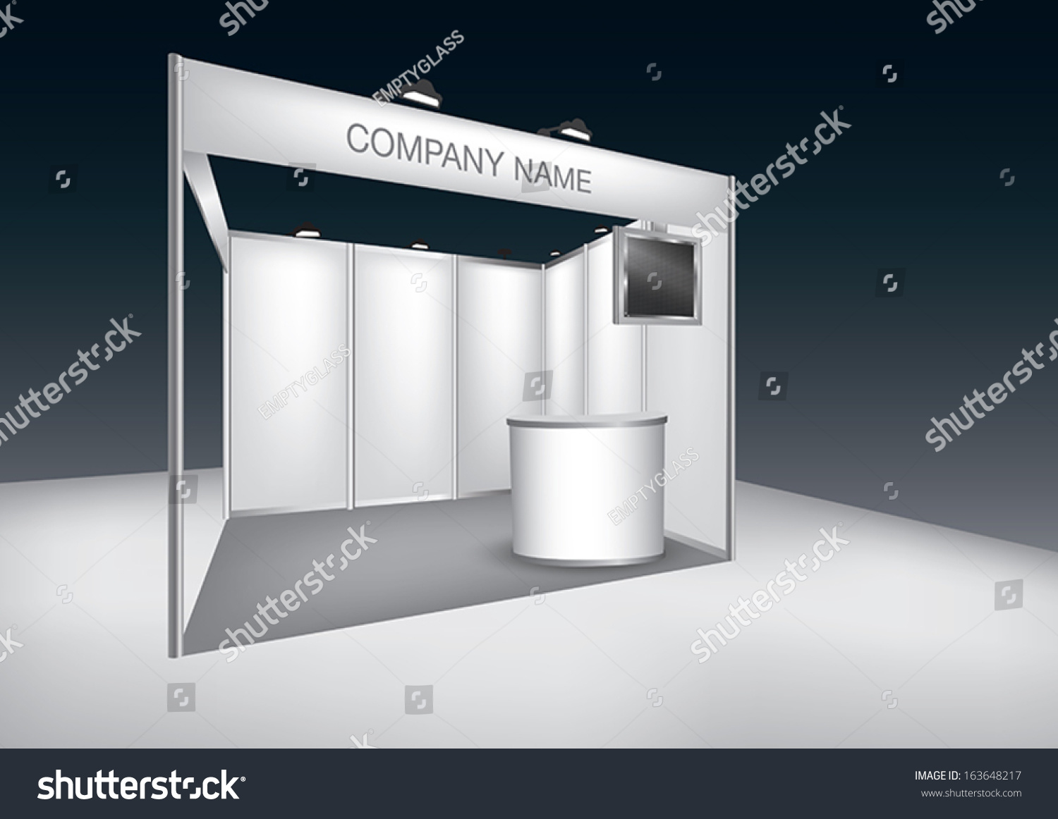 Simple Exhibition Stand Vector : Vector blank trade exhibition stand led stock