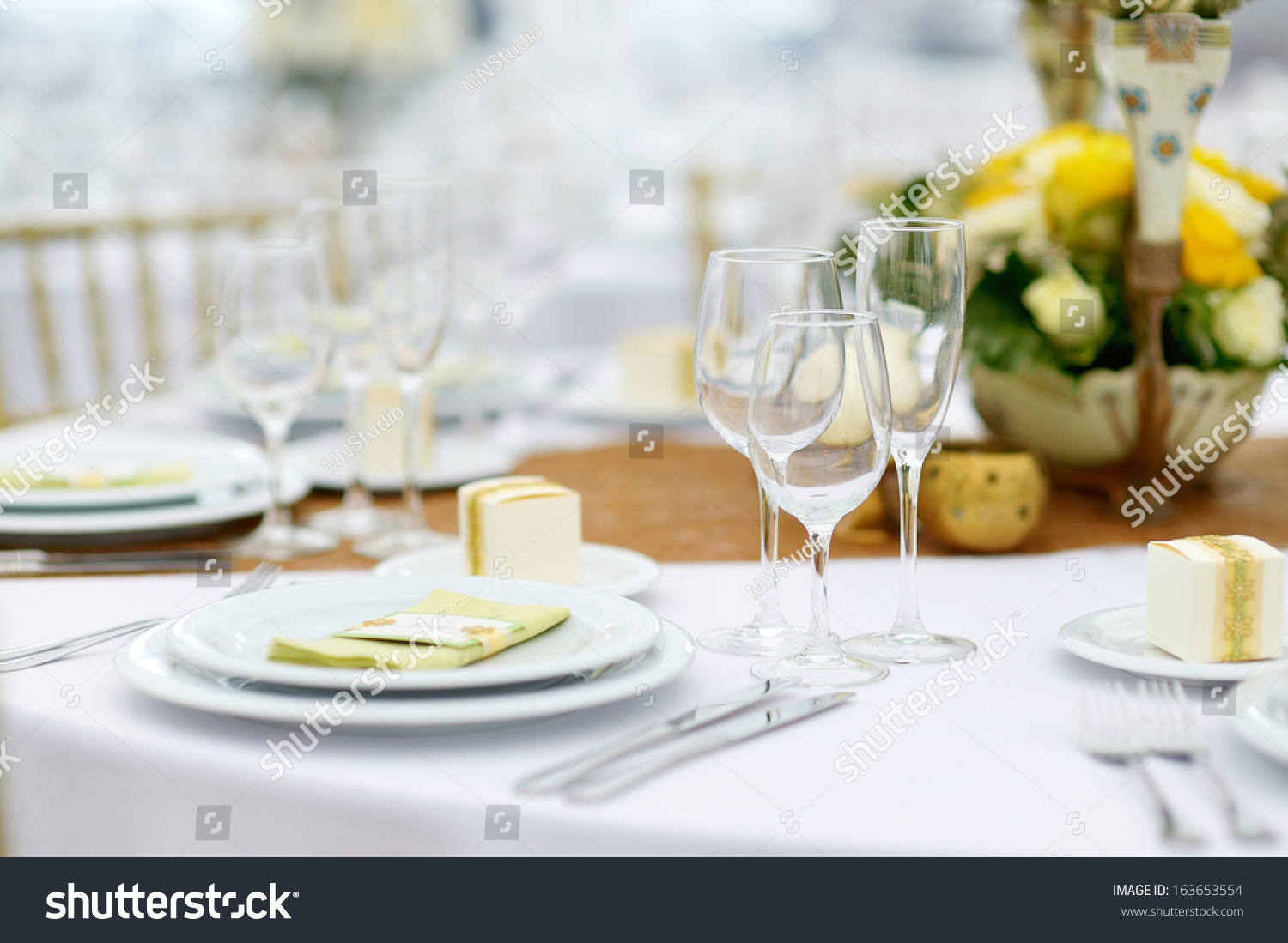 Table Set Event Party Wedding Reception Stock Photo & Image (Royalty ...