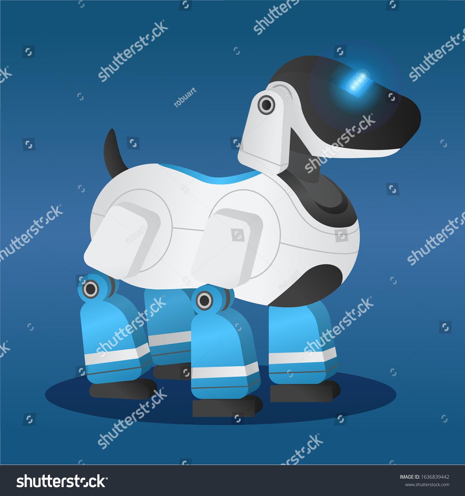 Robotic Dog Innovative Robot Model Futuristic Stock Vector ...