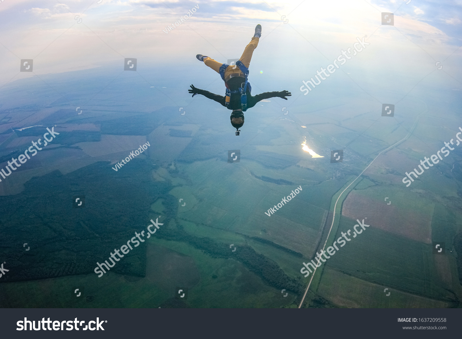 Hobbies tourism man. Free people above earth prefere active sports marketing. Bird men conquers sky. Flying people in professional suit above earth. Extreme tourism as a hobby. #1637209558