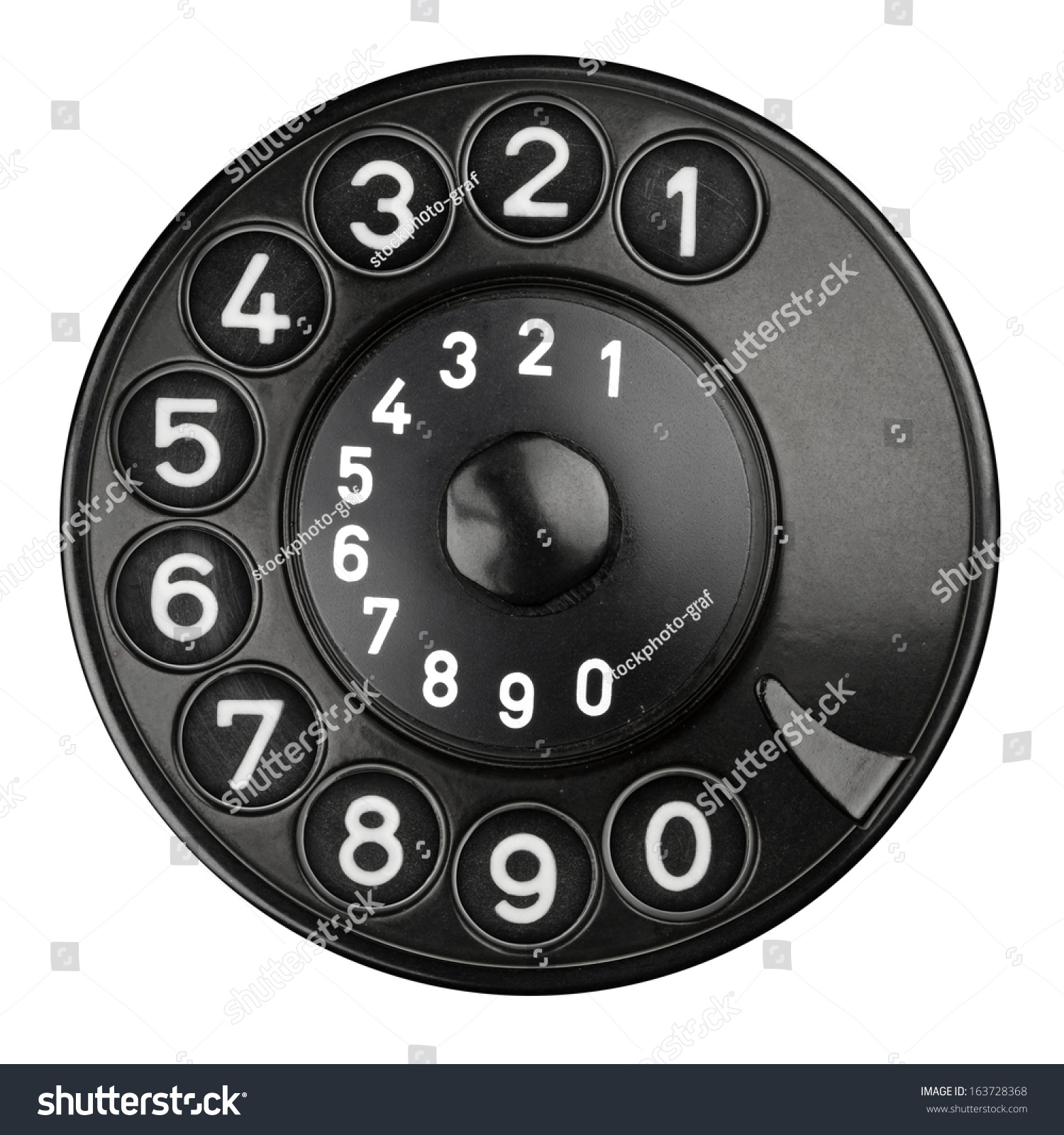 Rotary Dial Pad Old Telephone Stock Photo 163728368 - Shutterstock