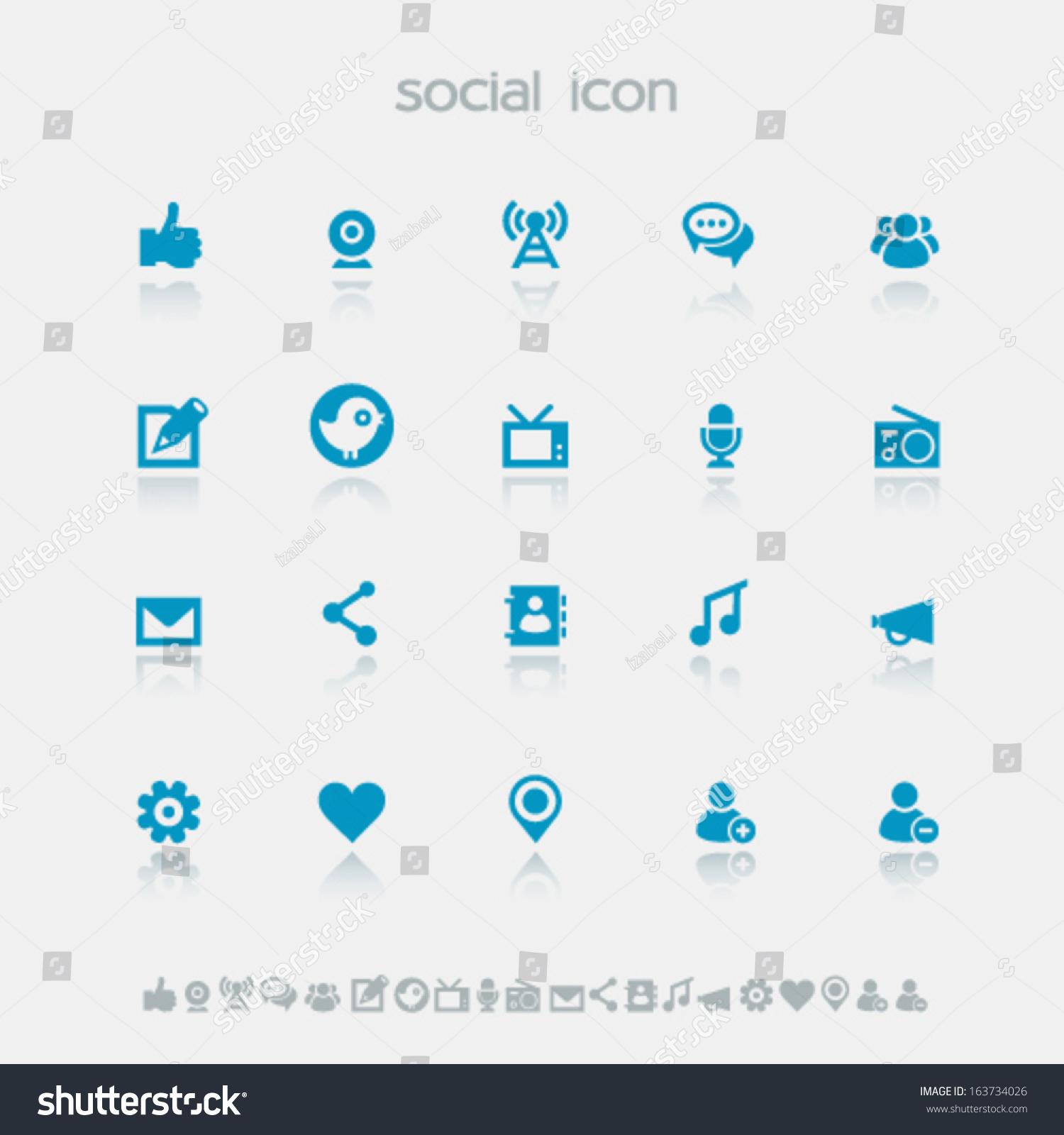 Modern Flat Design Simple Social Network Stock Vector 163734026 ...