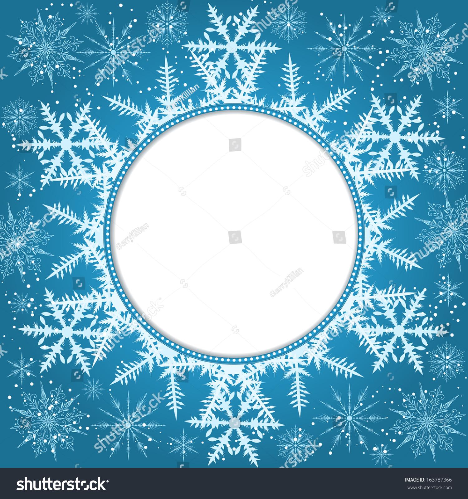 Vector Invitation Card Snowflakes New Year Vector 163787366 – New Year Invitation Template