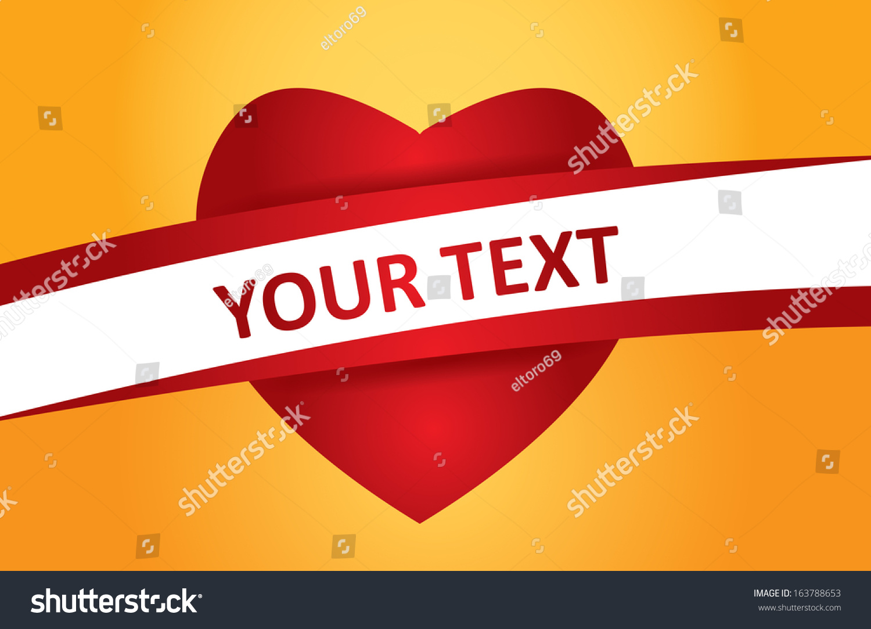 Presentation Template Heart Icon Tex Space Stock Vector 163788653 ...