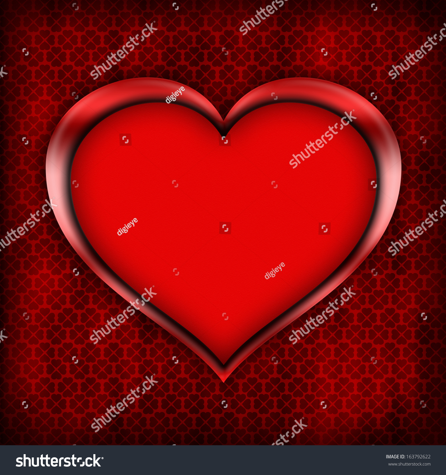 Valentines Day Card Template Stock Illustration 163792622 Shutterstock