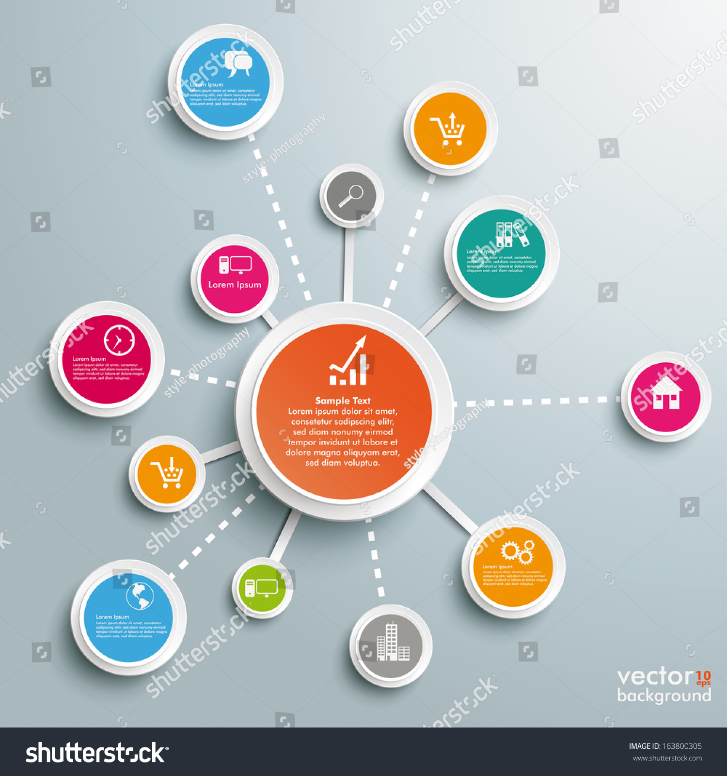 Infographic Design On Grey Background Eps Stock Vector 163800305 ...