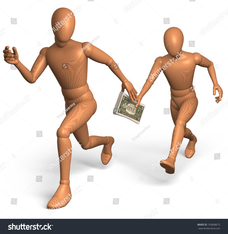 Two wooden figures men athletes running stock illustration 163808672 two wooden figures men athletes running in relay race handing over us dollars as buycottarizona Gallery