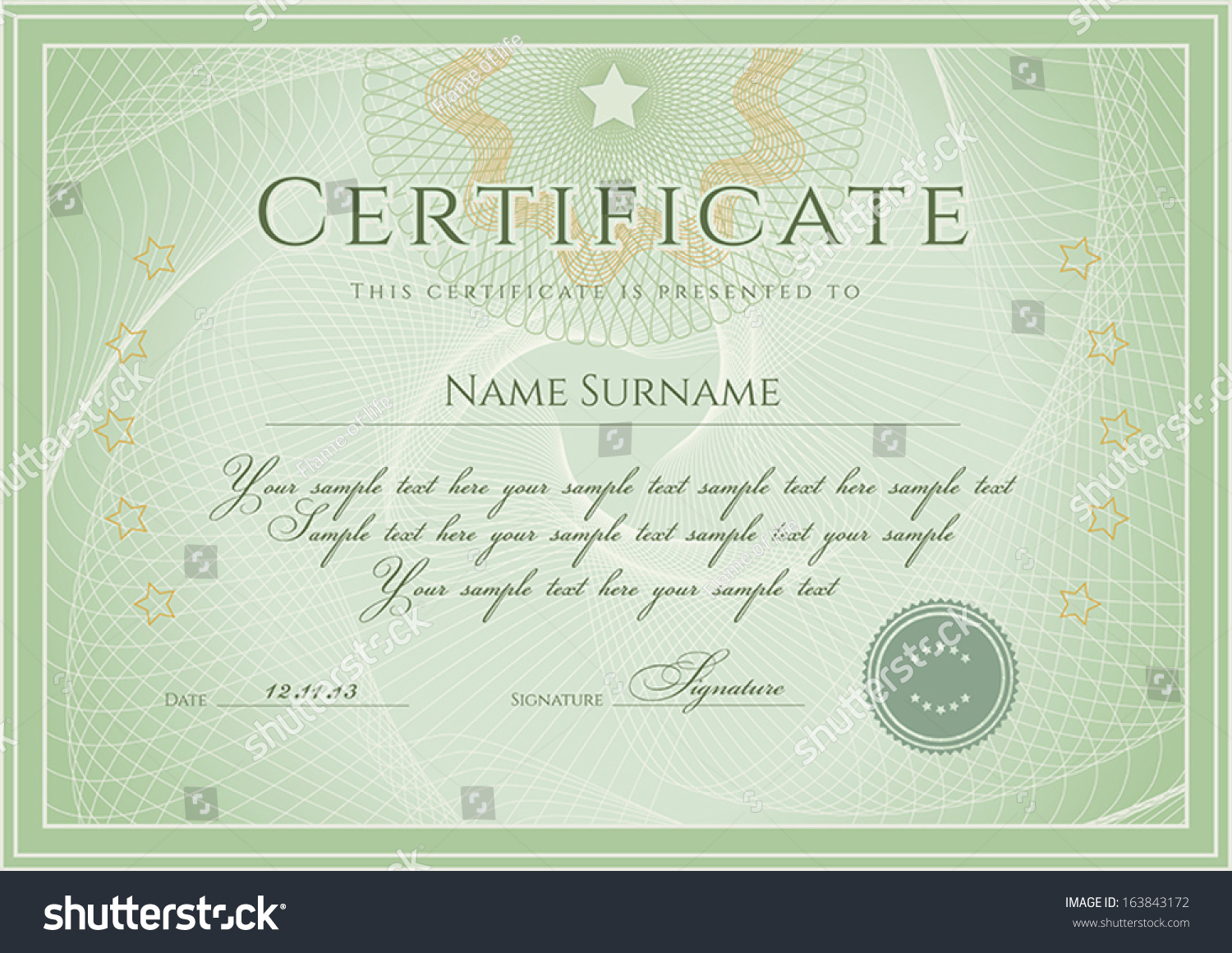 Certificate Diploma Completion Design Template Background ...