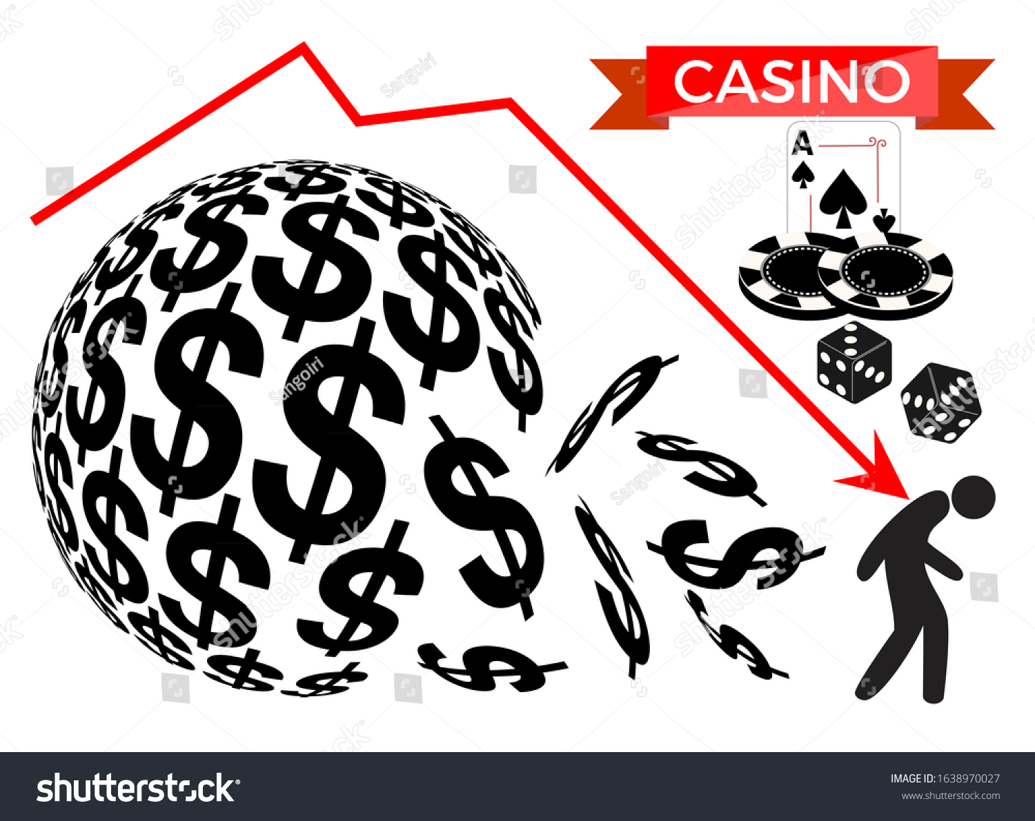 images gambling addiction sphere