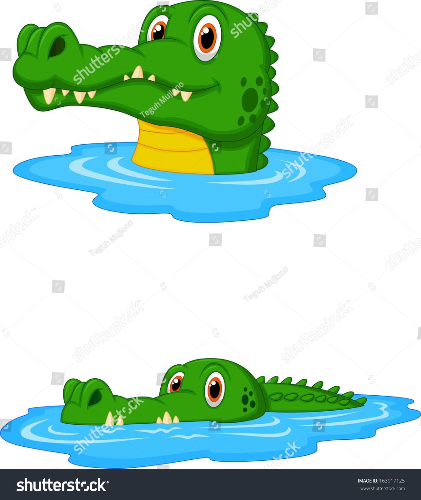 cute crocodile cartoon swimming stock illustration 163917125 rh shutterstock com Bird Clip Art Black Bear Clip Art
