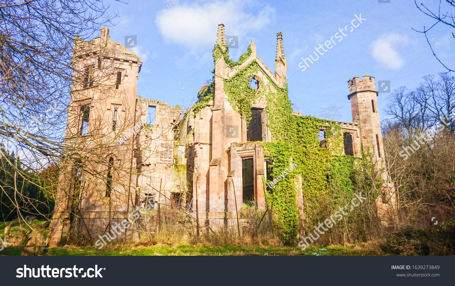 Ruin of Cambusnethan Priory also known as Cambusnethan House located in Wishaw, North Lanarkshire, Scotland, built in 17th century