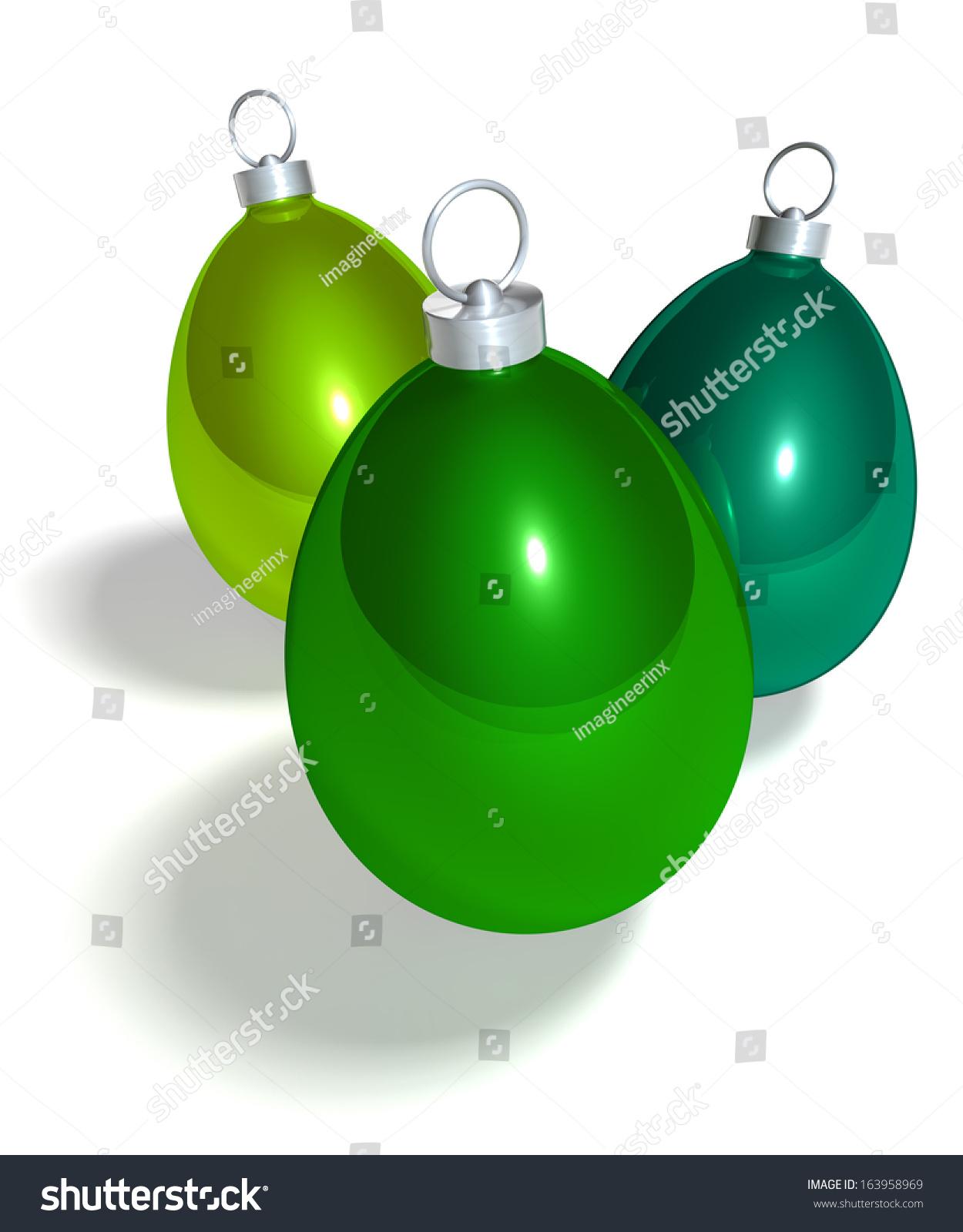 Egg Shaped Christmas Balls Green Christmas Tree Baubles