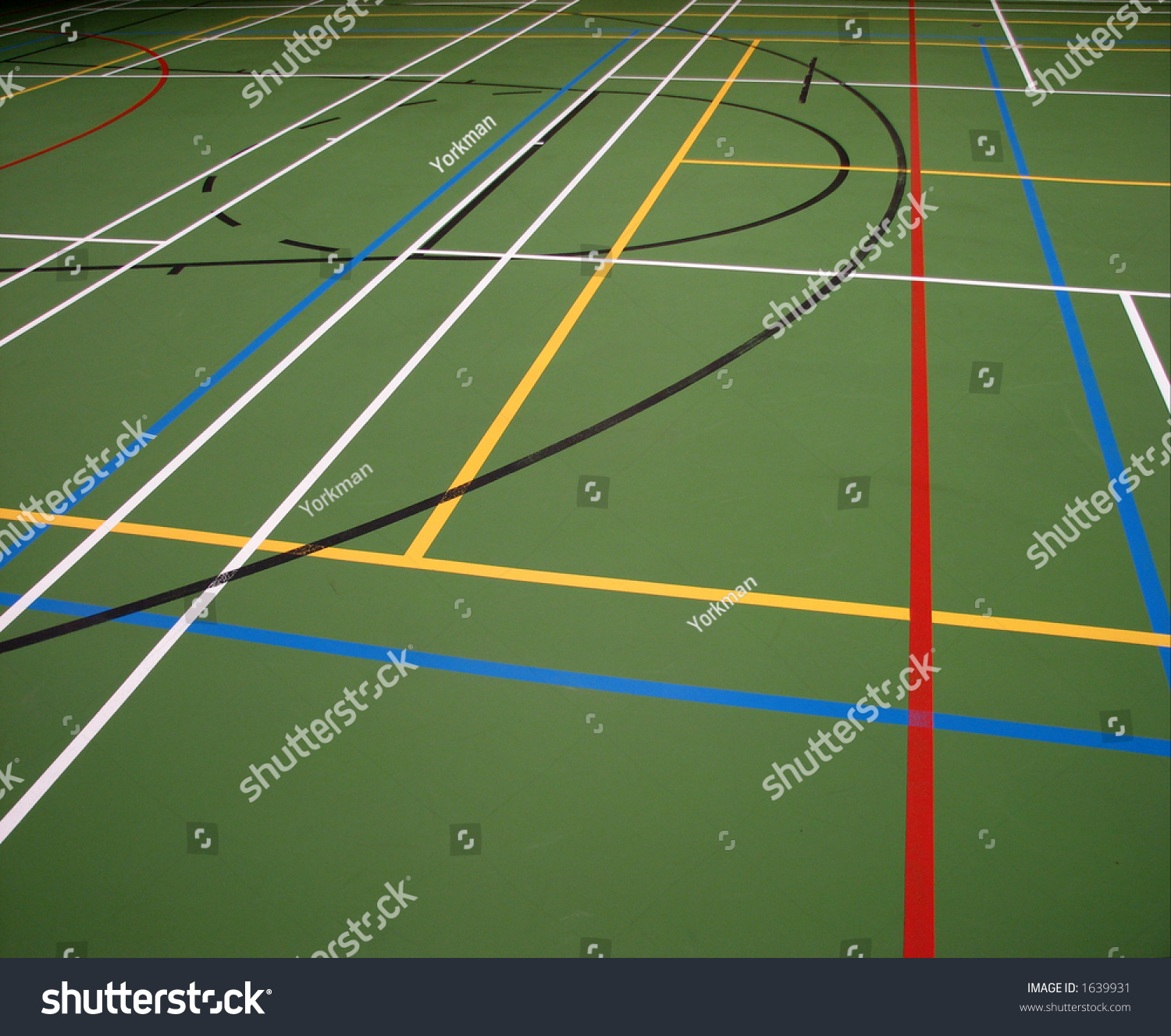 Mixed Sports Games Lines Inside Sports Stock Photo 1639931