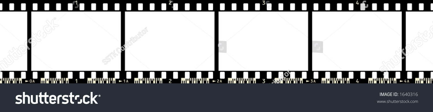 Film Strip 4 Frames Numbers Code Stock Illustration 1640316 ...