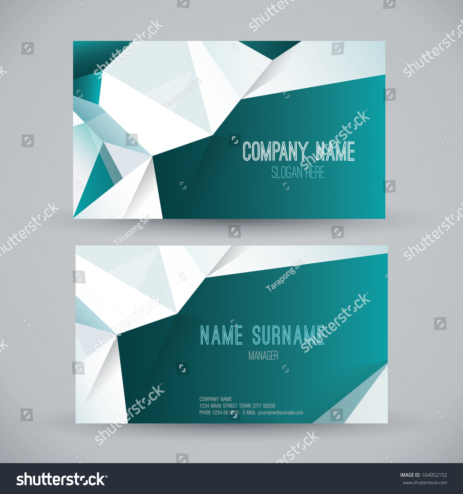 Business Card Template. Name Card Abstract Background. Vector Illustration.  Name Card Example