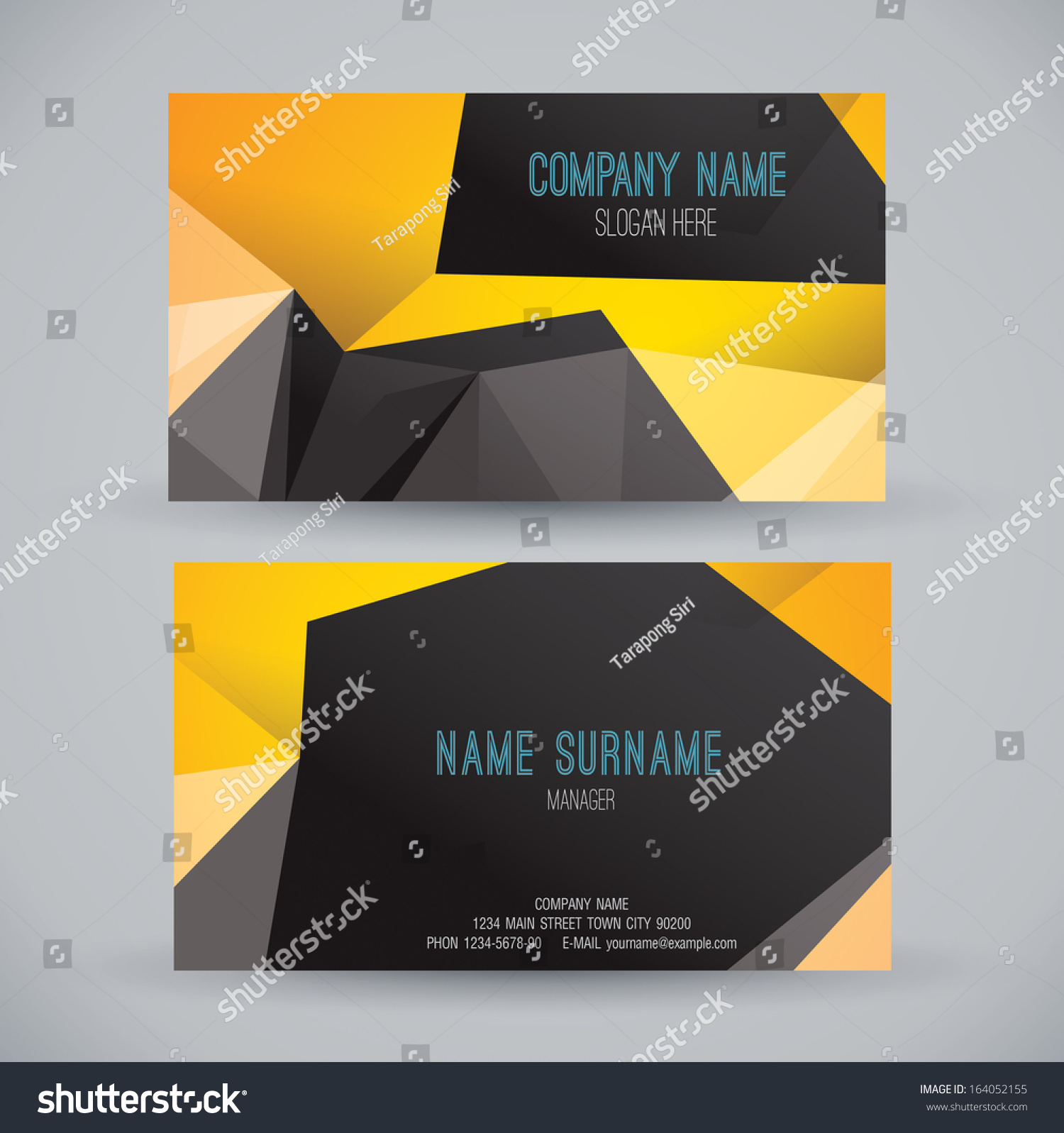 Business card template name card abstract stock vector for Business card background vector