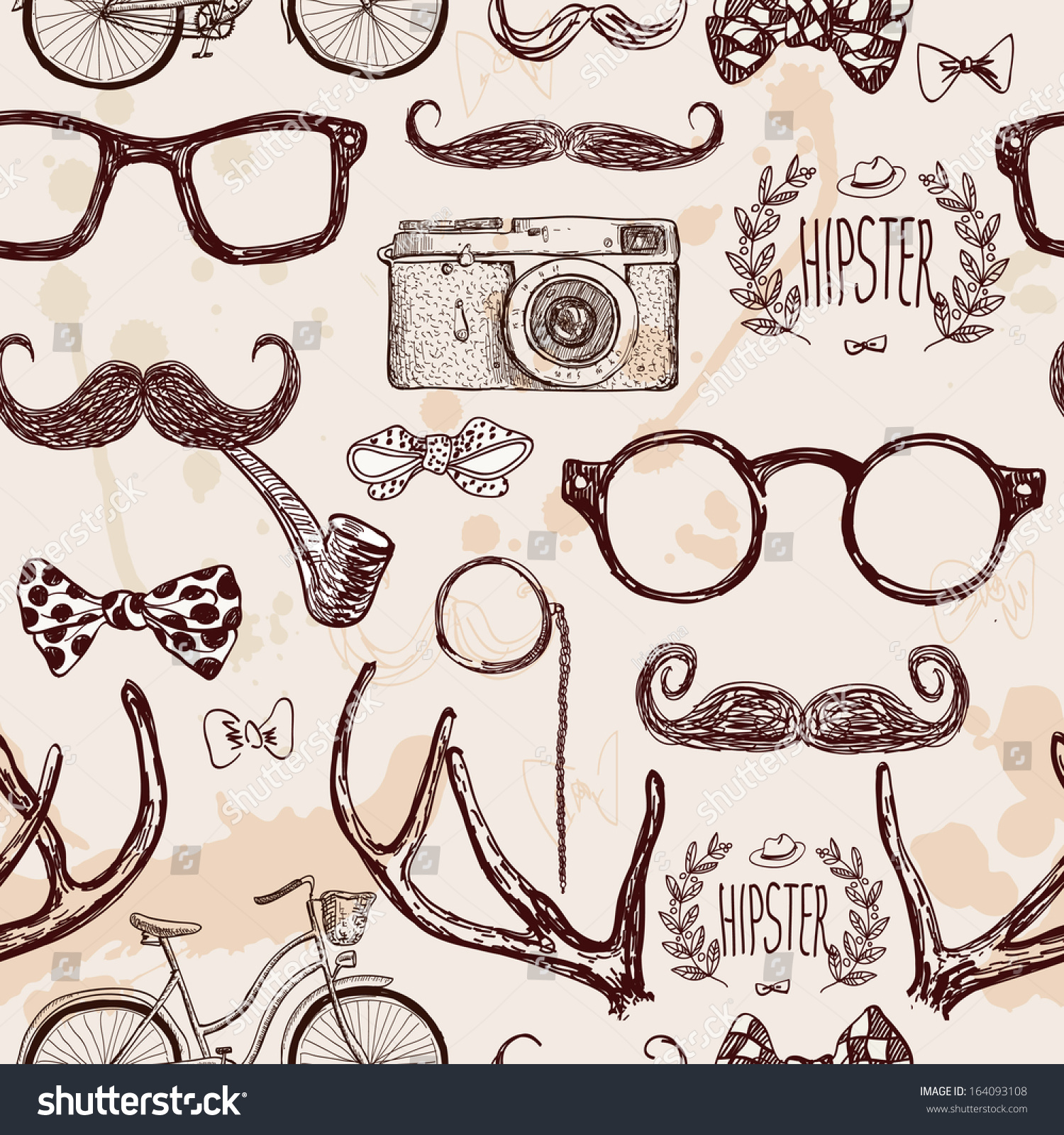 Hipster Pattern Drawing