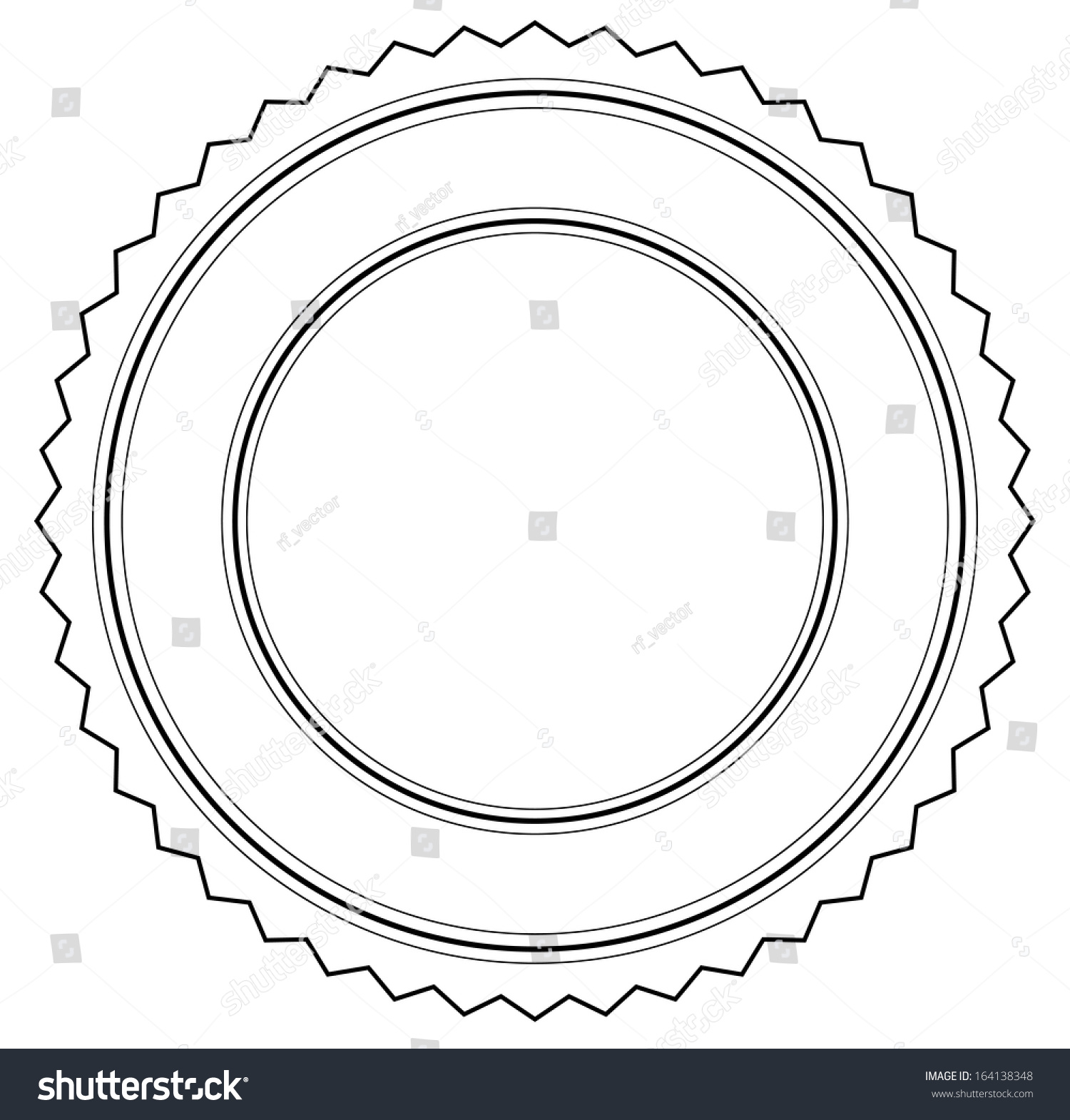 simple badge template outline stock vector royalty free 164138348