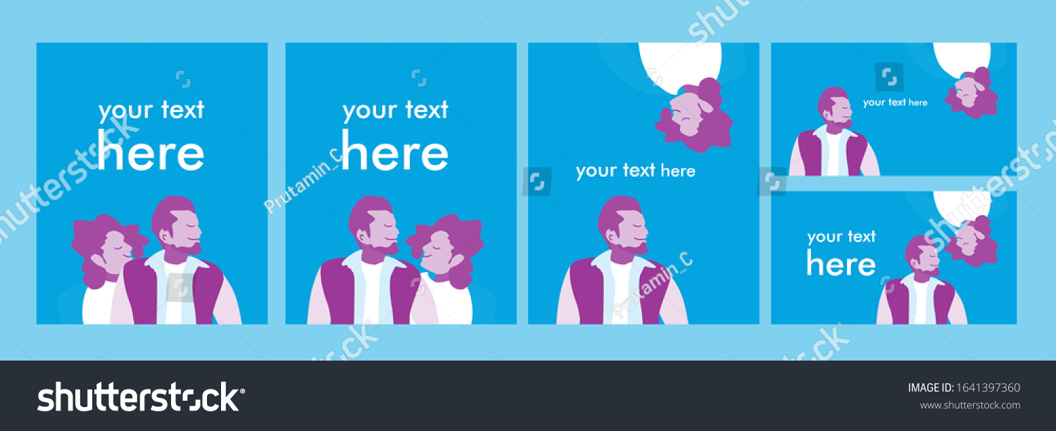 set couple background with blank space for valentine day theme