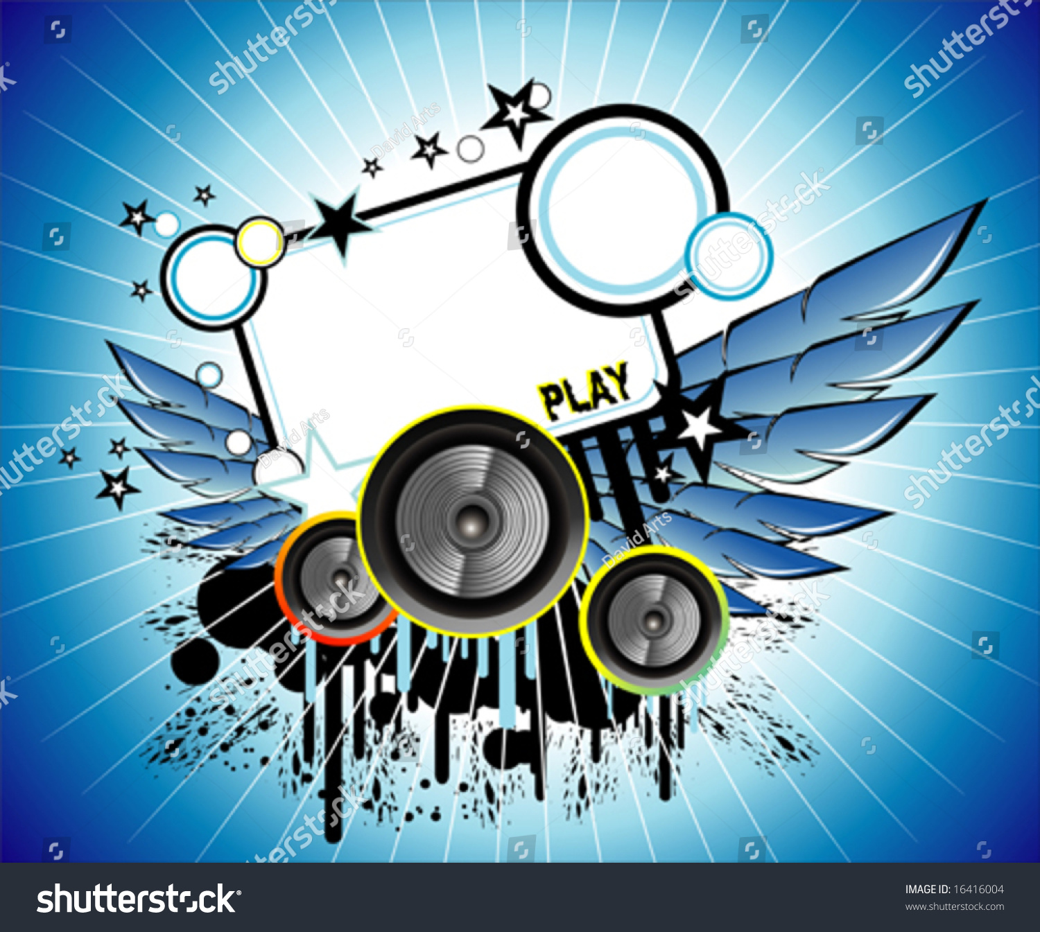 Vector Sound Music Frame Stock Vector (Royalty Free) 16416004 ...
