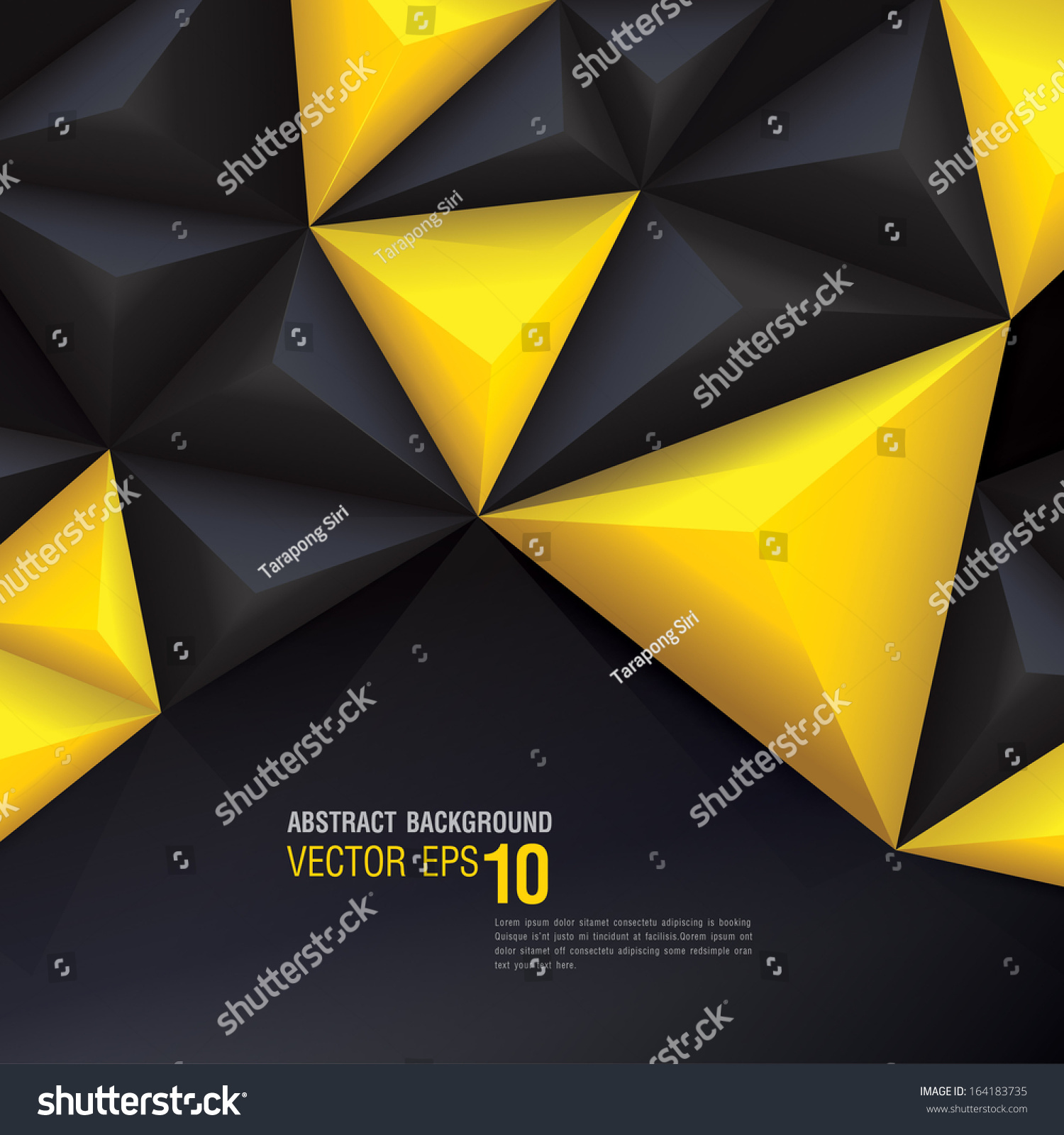 Book With Black And Yellow Cover : Yellow black vector geometric background can stock