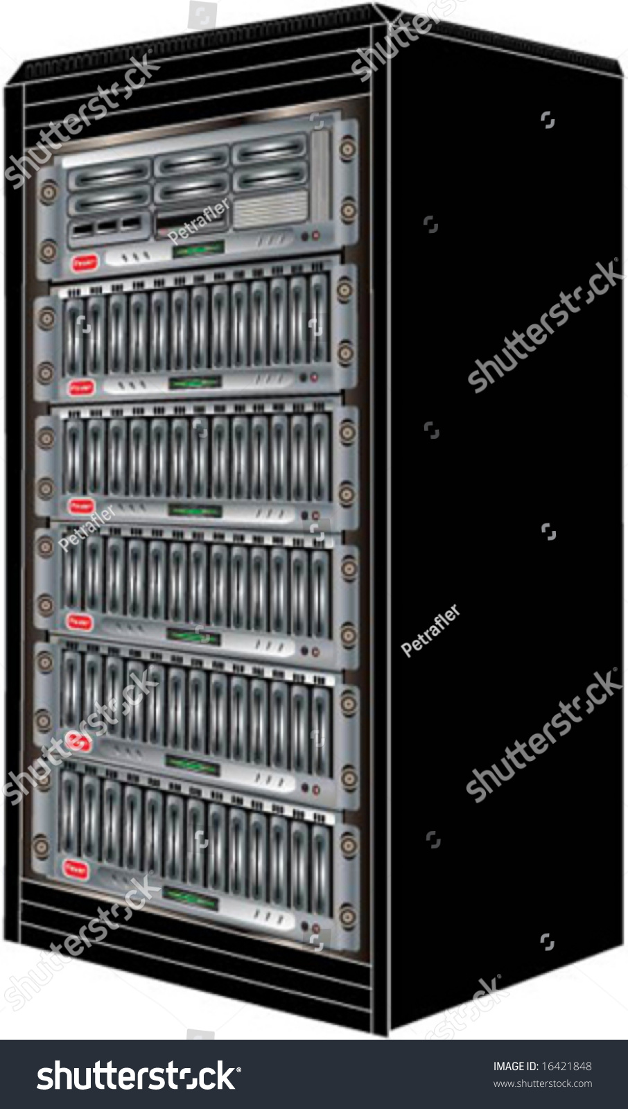 vector of a computer server cabinet