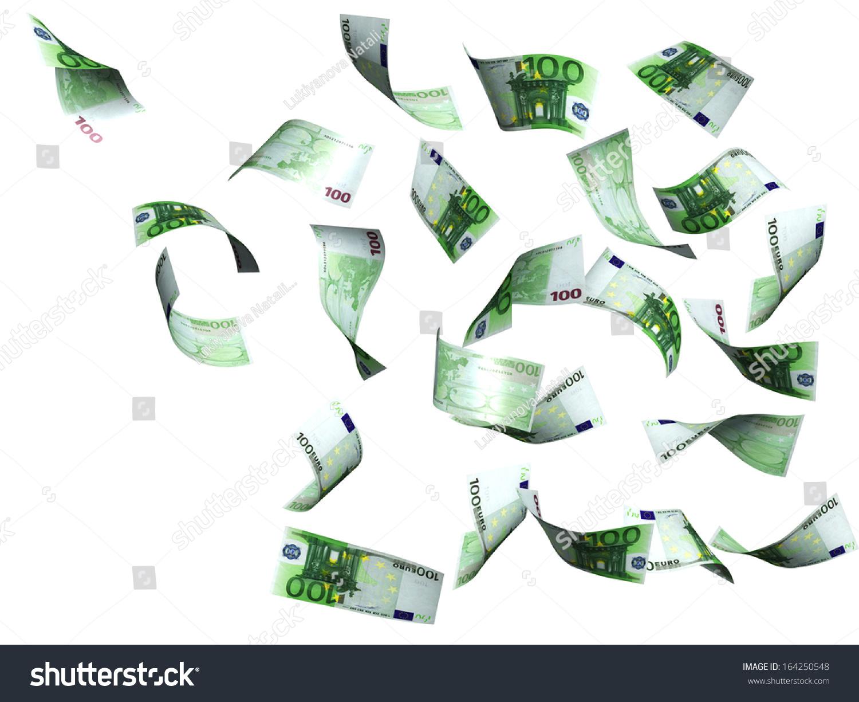 Symbol Wealth Success Rain Euro Isolated Stock Illustration