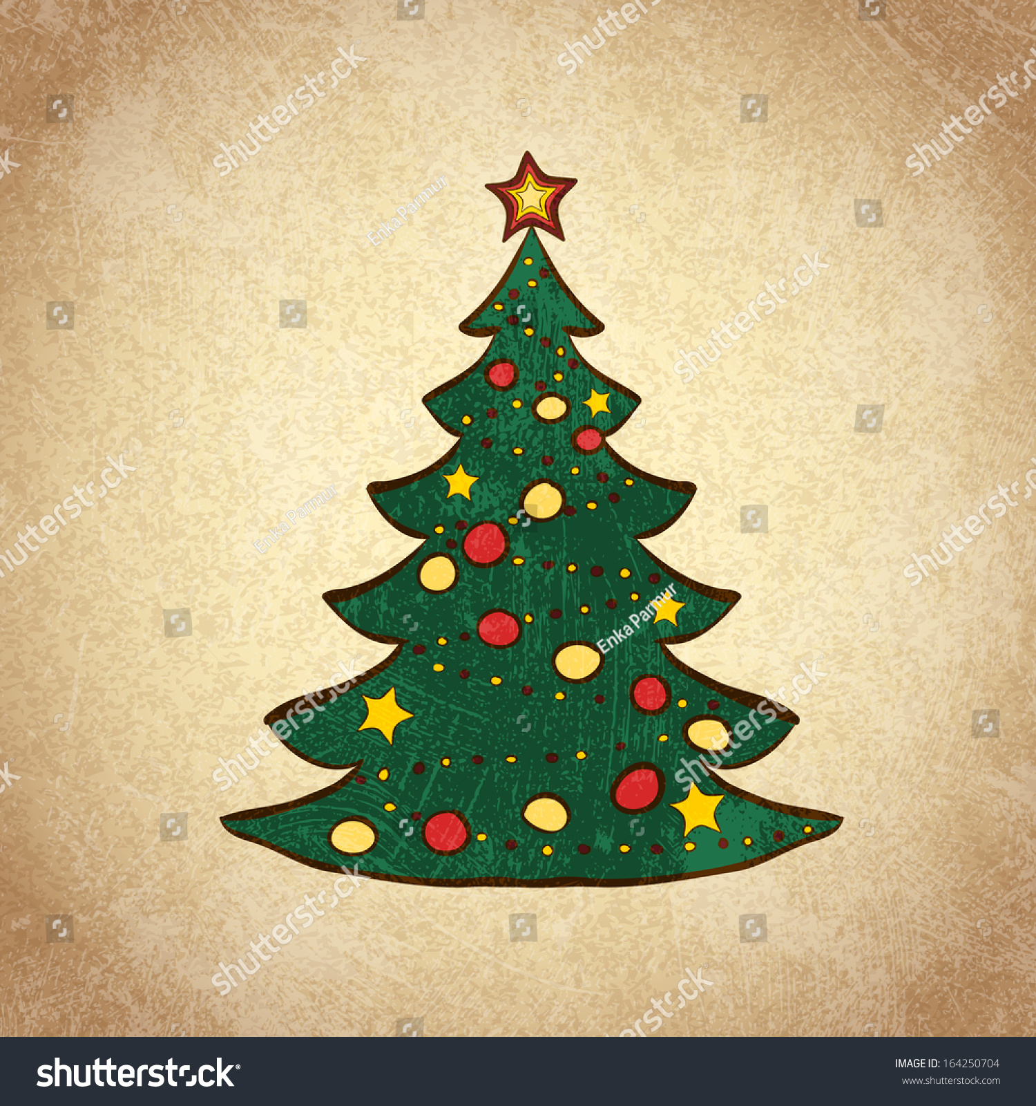Perfect Tinsel Tree With Color Wheel Composition - Coloring Page ...