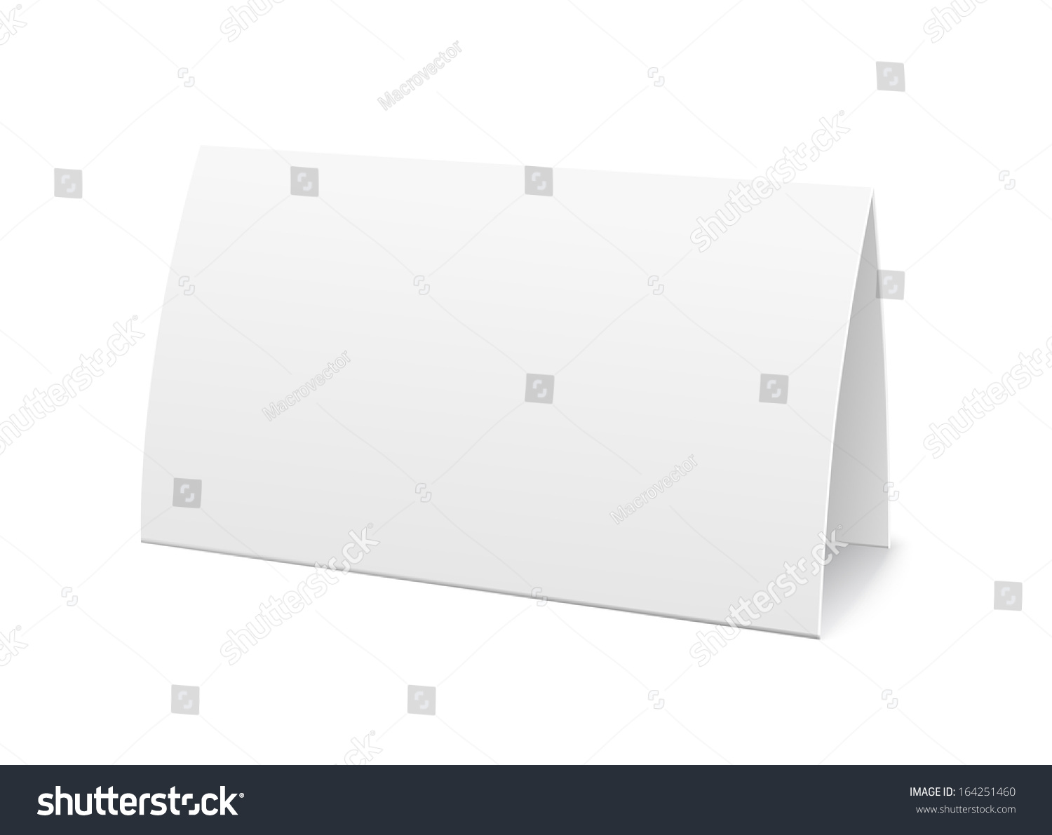 paper table card sign template vector stock vector 164251460 shutterstock. Black Bedroom Furniture Sets. Home Design Ideas